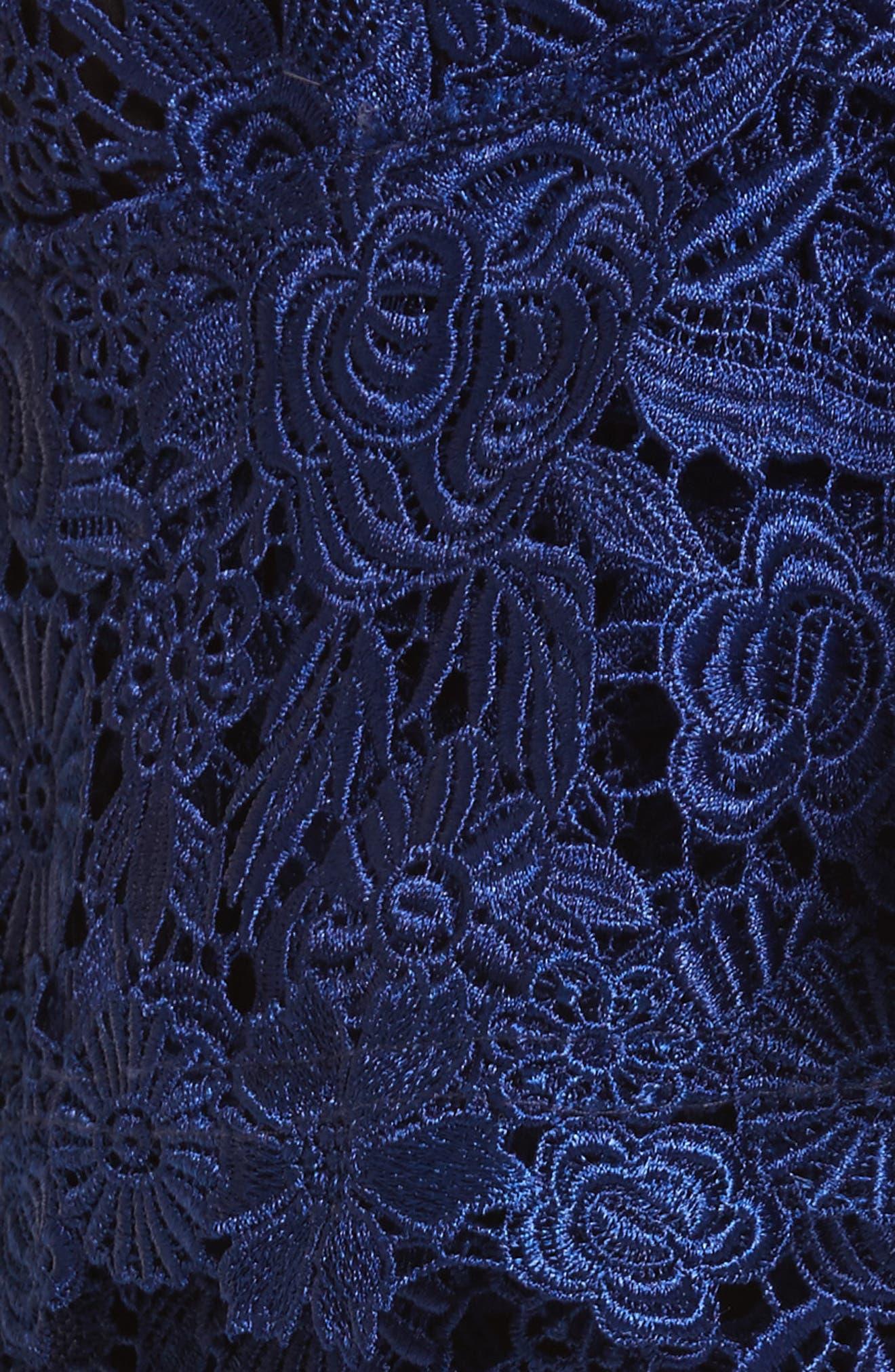 Saba Ruffle One-Shoulder Top,                             Alternate thumbnail 5, color,                             Indigo