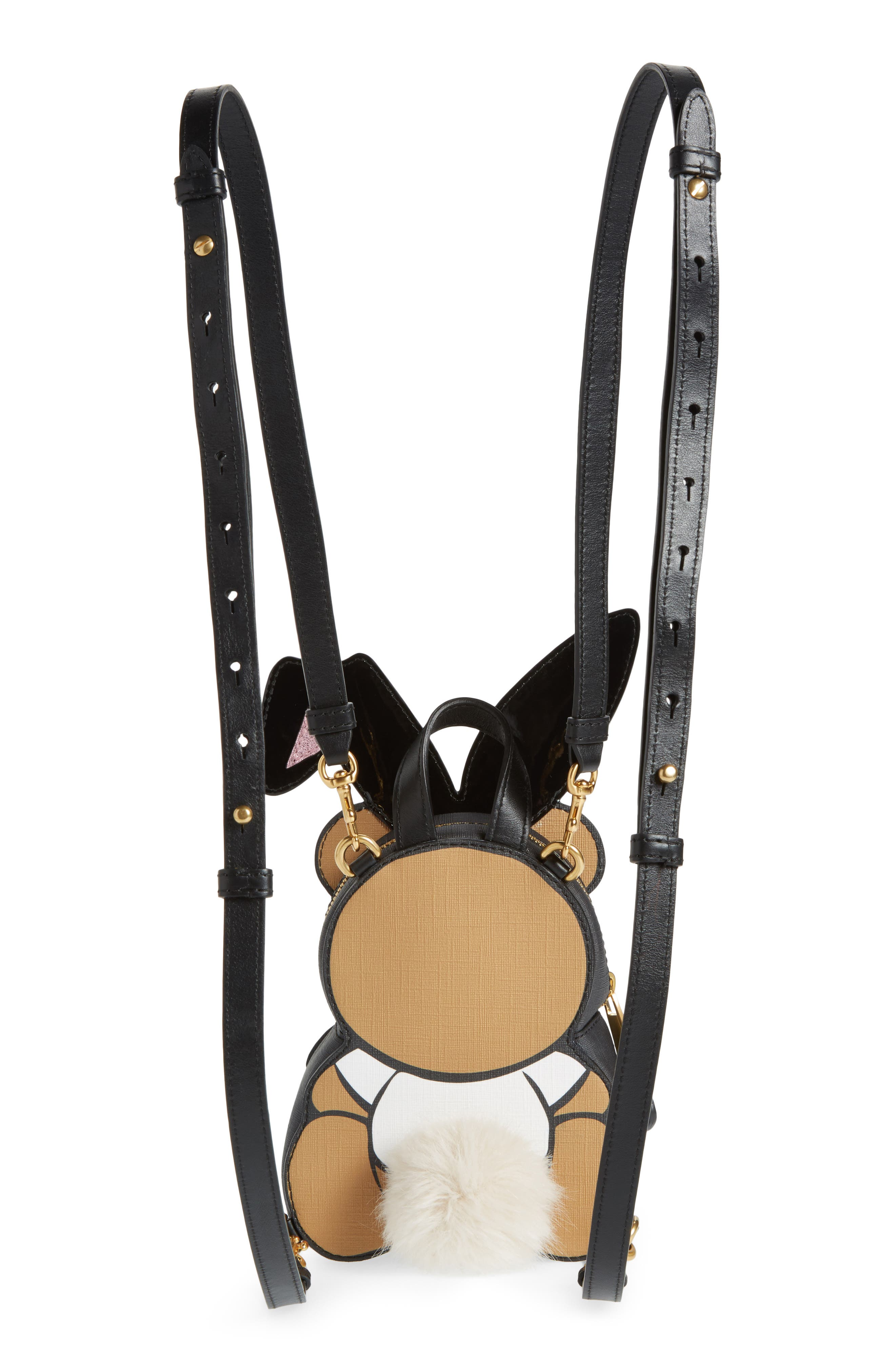 Alternate Image 3  - Moschino x Playboy Small Bunny Bear Leather Backpack