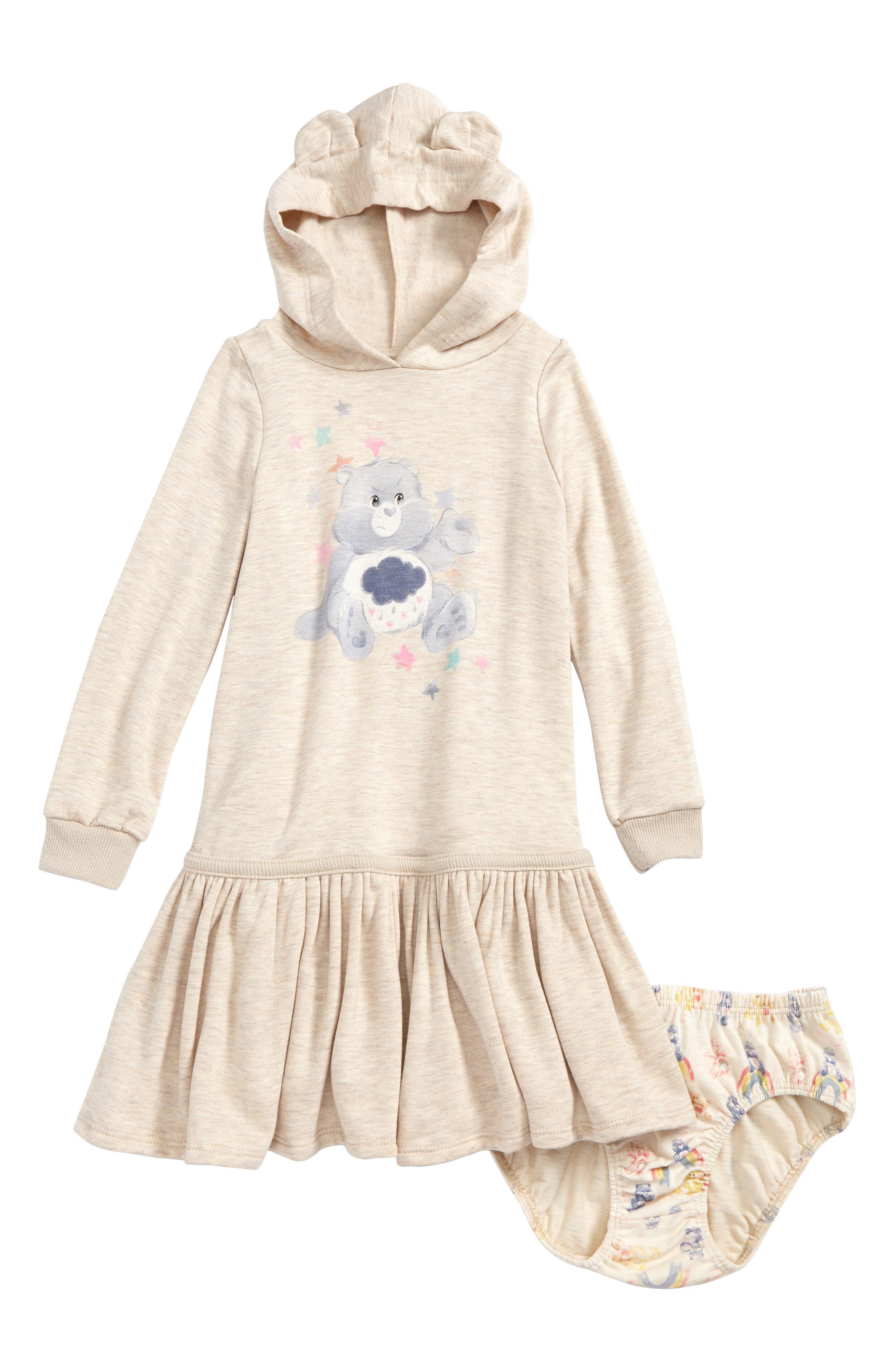 Main Image - Care Bears™ by Fine Threads Hooded Dress (Toddler Girls & Little Girls)