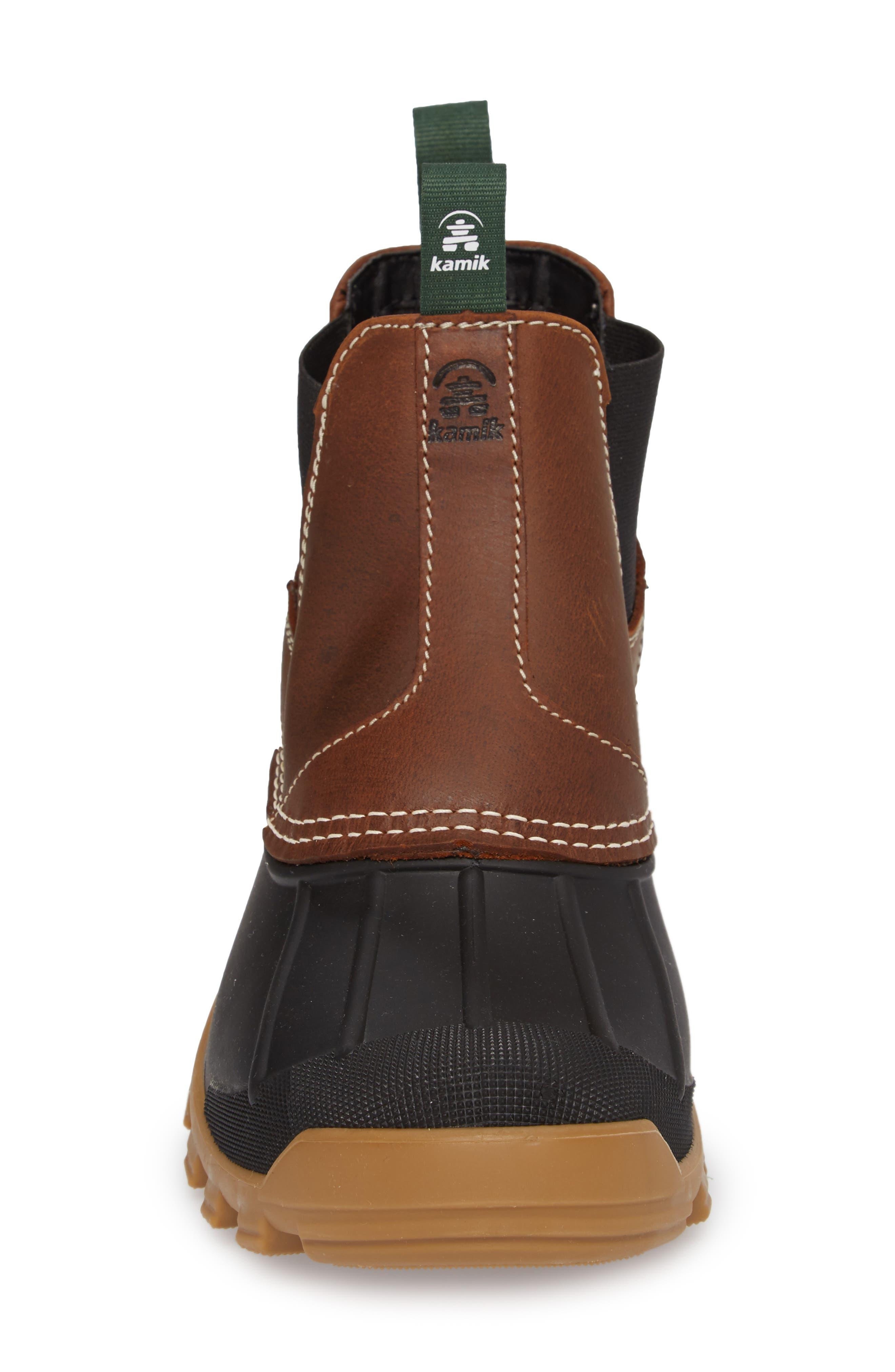 Yukon Chelsea Boot,                             Alternate thumbnail 4, color,                             Dark Brown Leather