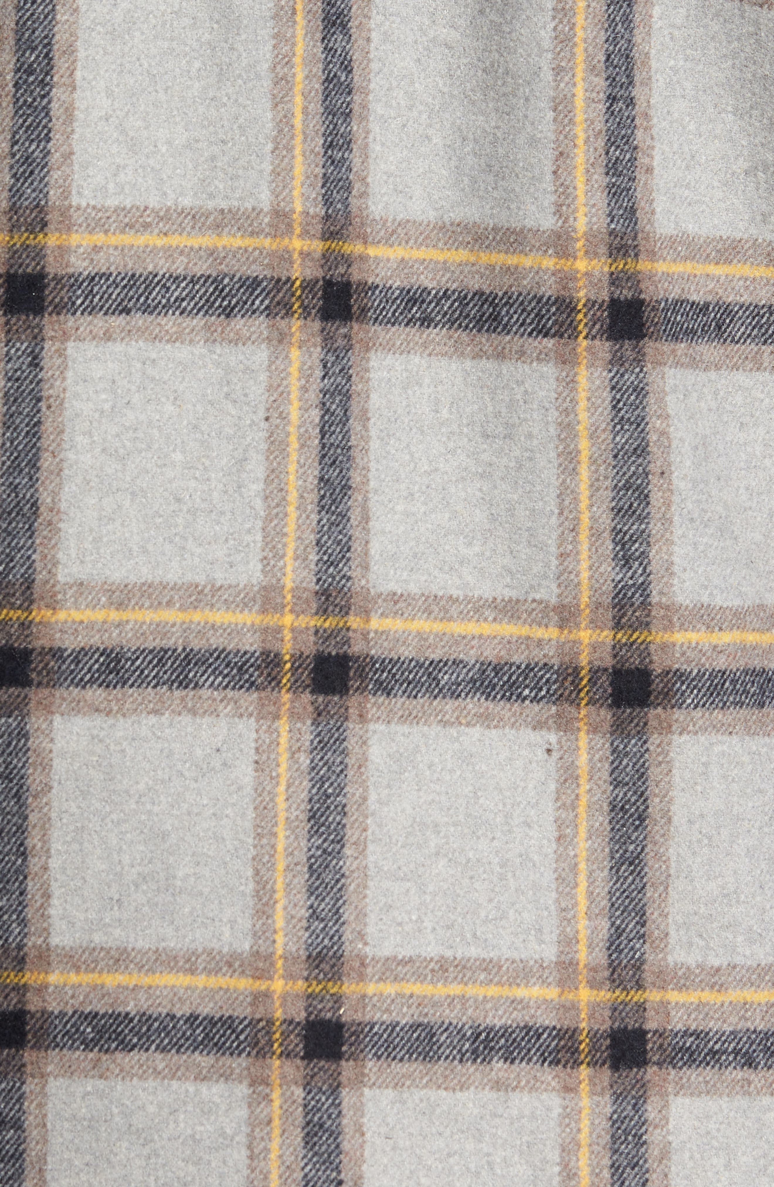 Tough Guy Plush Lined Flannel Shirt Jacket,                             Alternate thumbnail 5, color,                             Light Grey