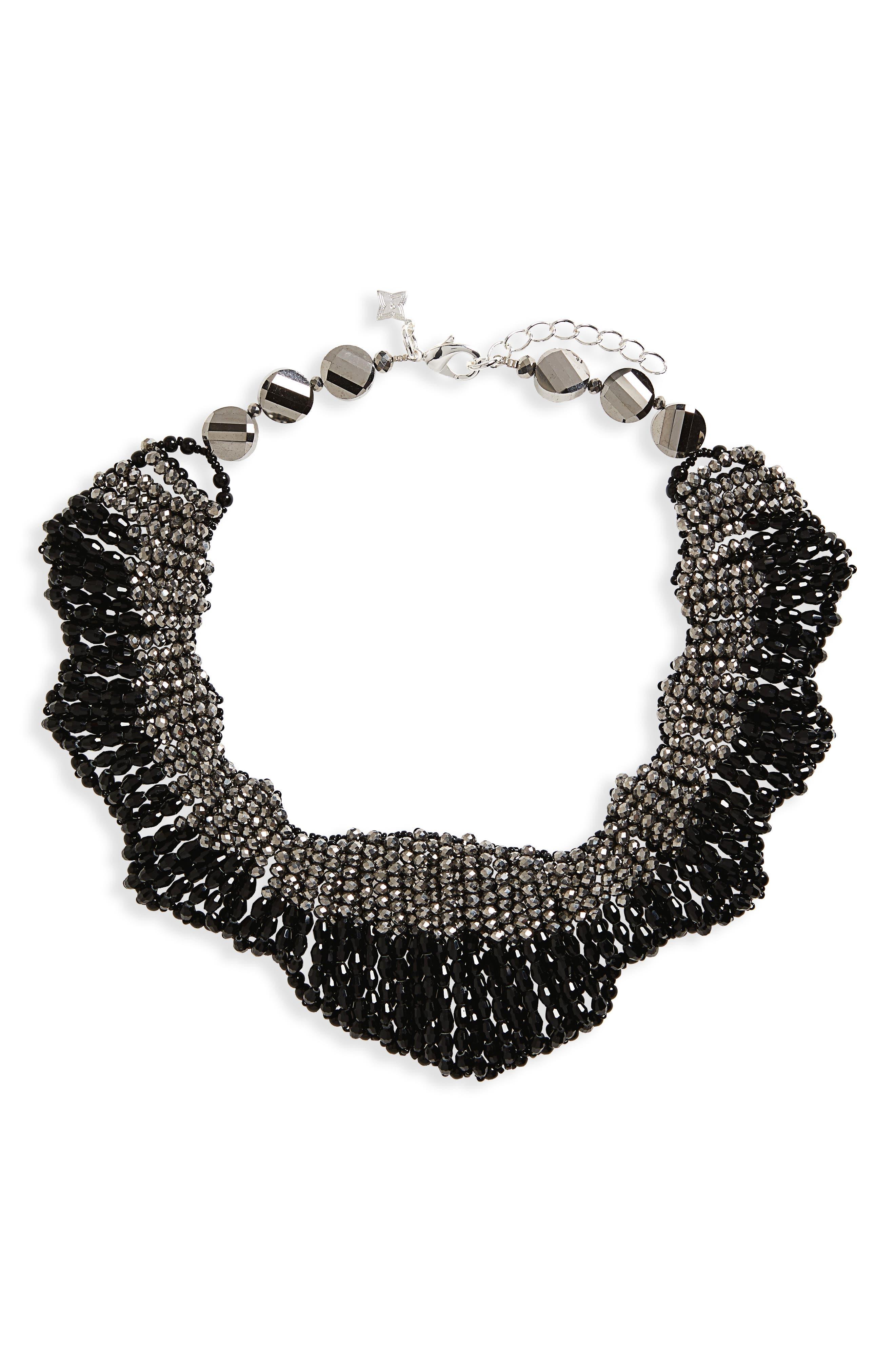 Panacea Beaded Statement Collar Necklace