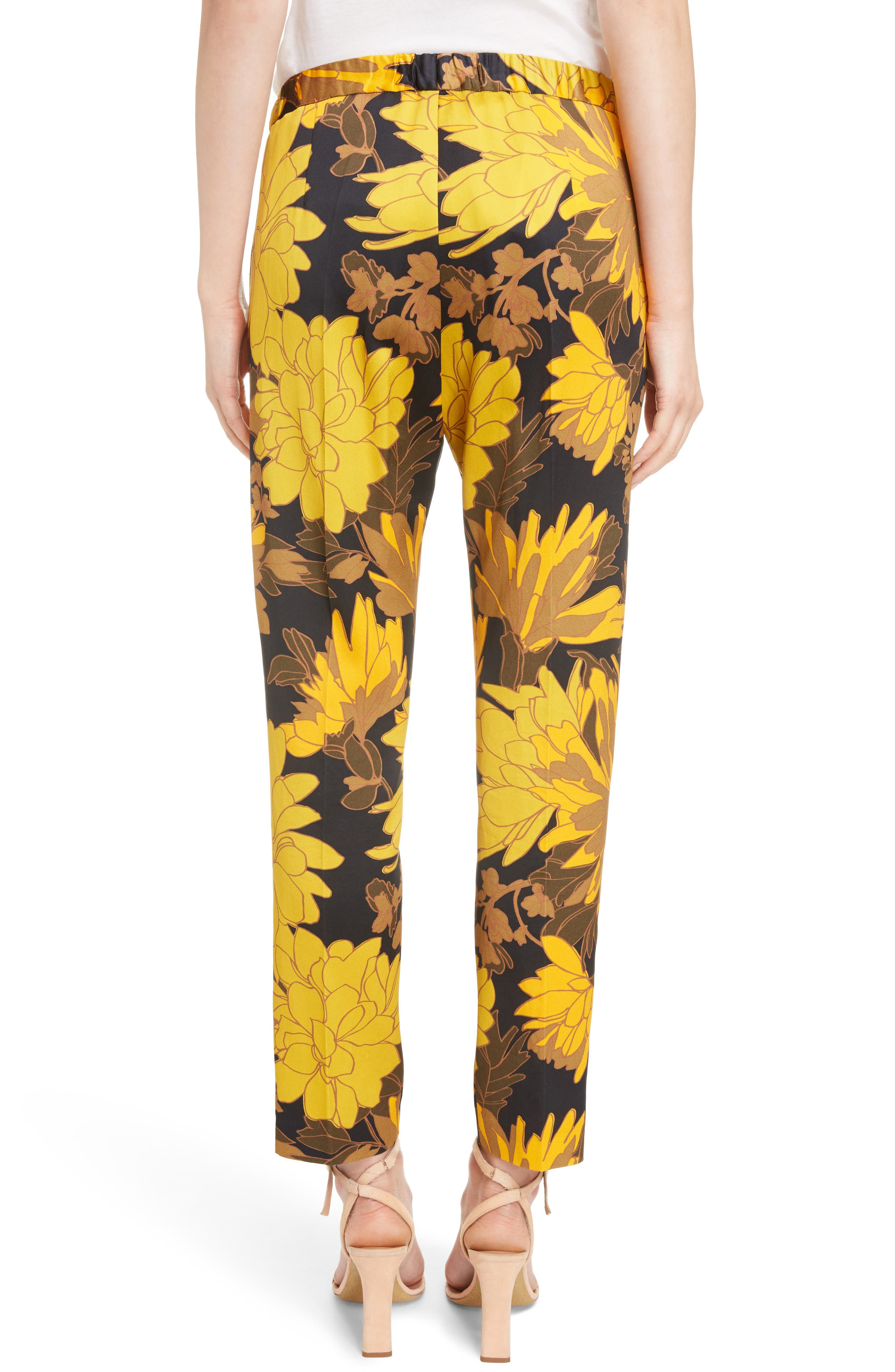 Print Ankle Pants,                             Alternate thumbnail 3, color,                             Yellow