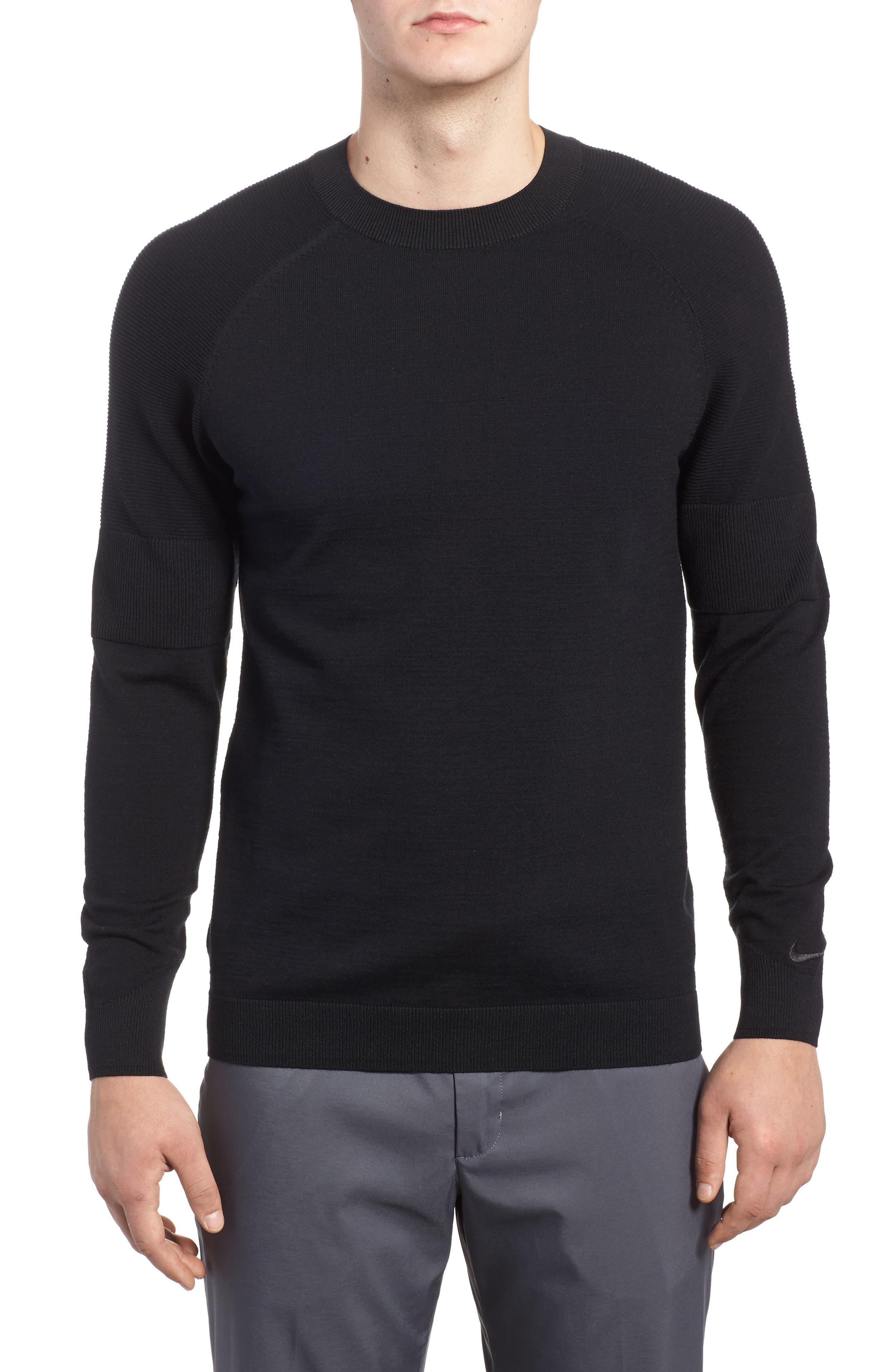 TW Cotton Blend Sweatshirt,                         Main,                         color, Black/ Black
