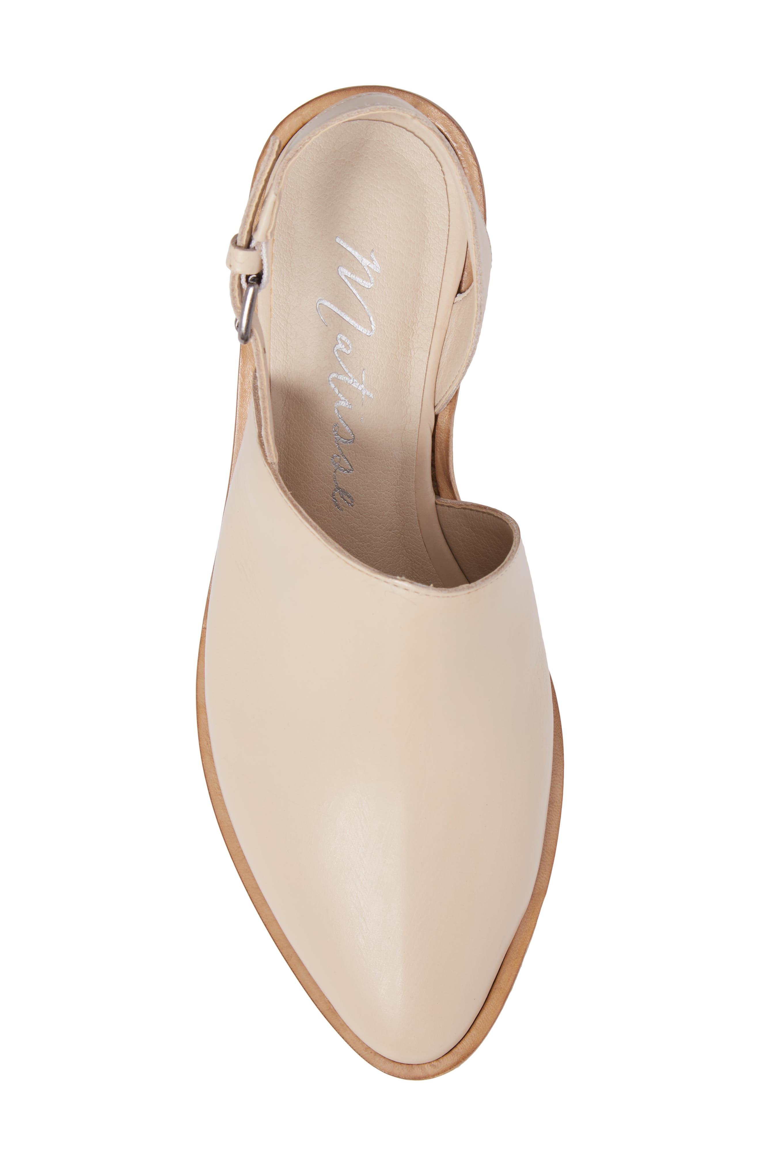Eyals Slingback Platform Wedge Sandal,                             Alternate thumbnail 5, color,                             Natural Leather
