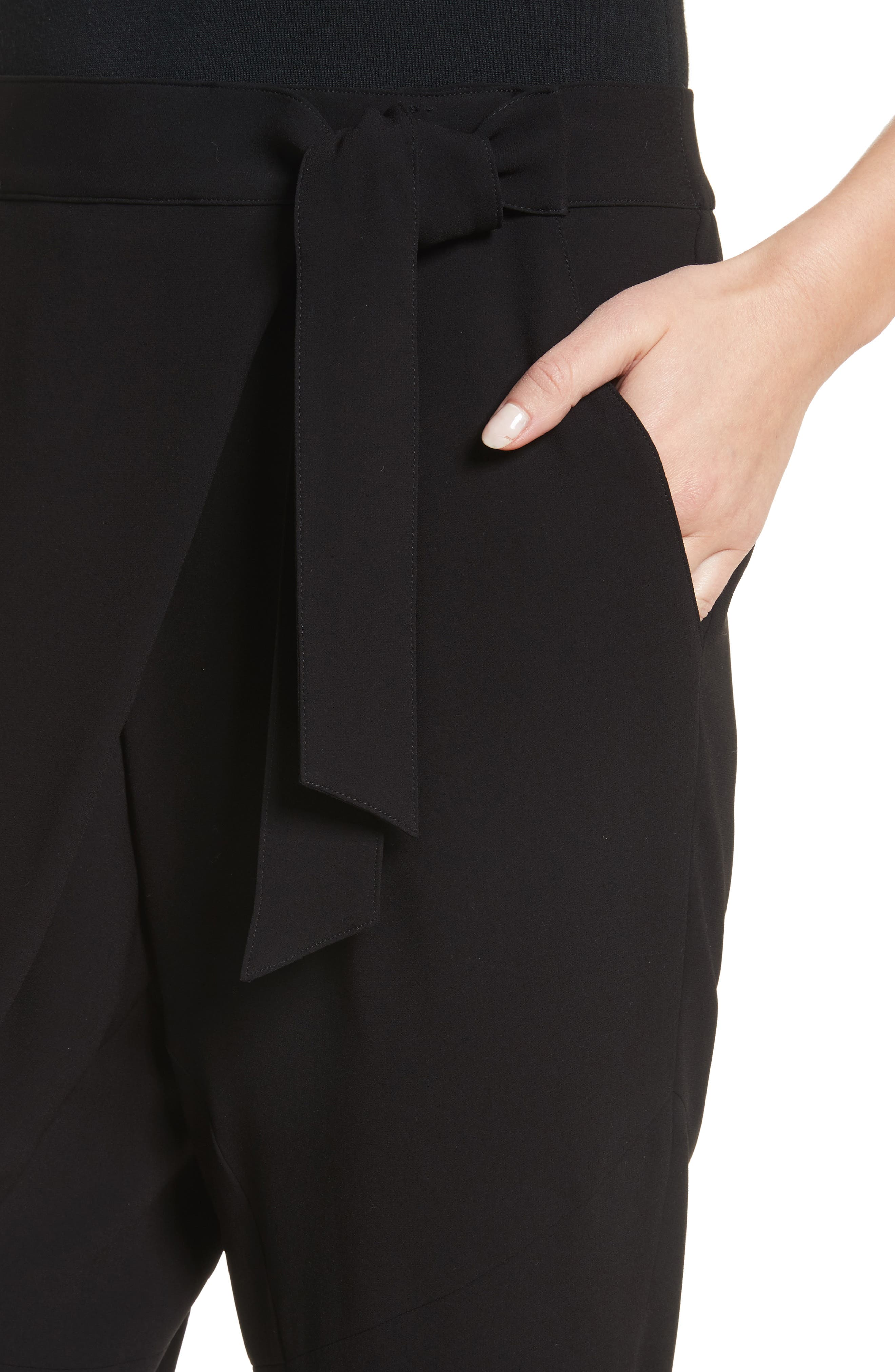 Alternate Image 6  - St. John Collection Satin Back Crepe Wrap Waist Pants