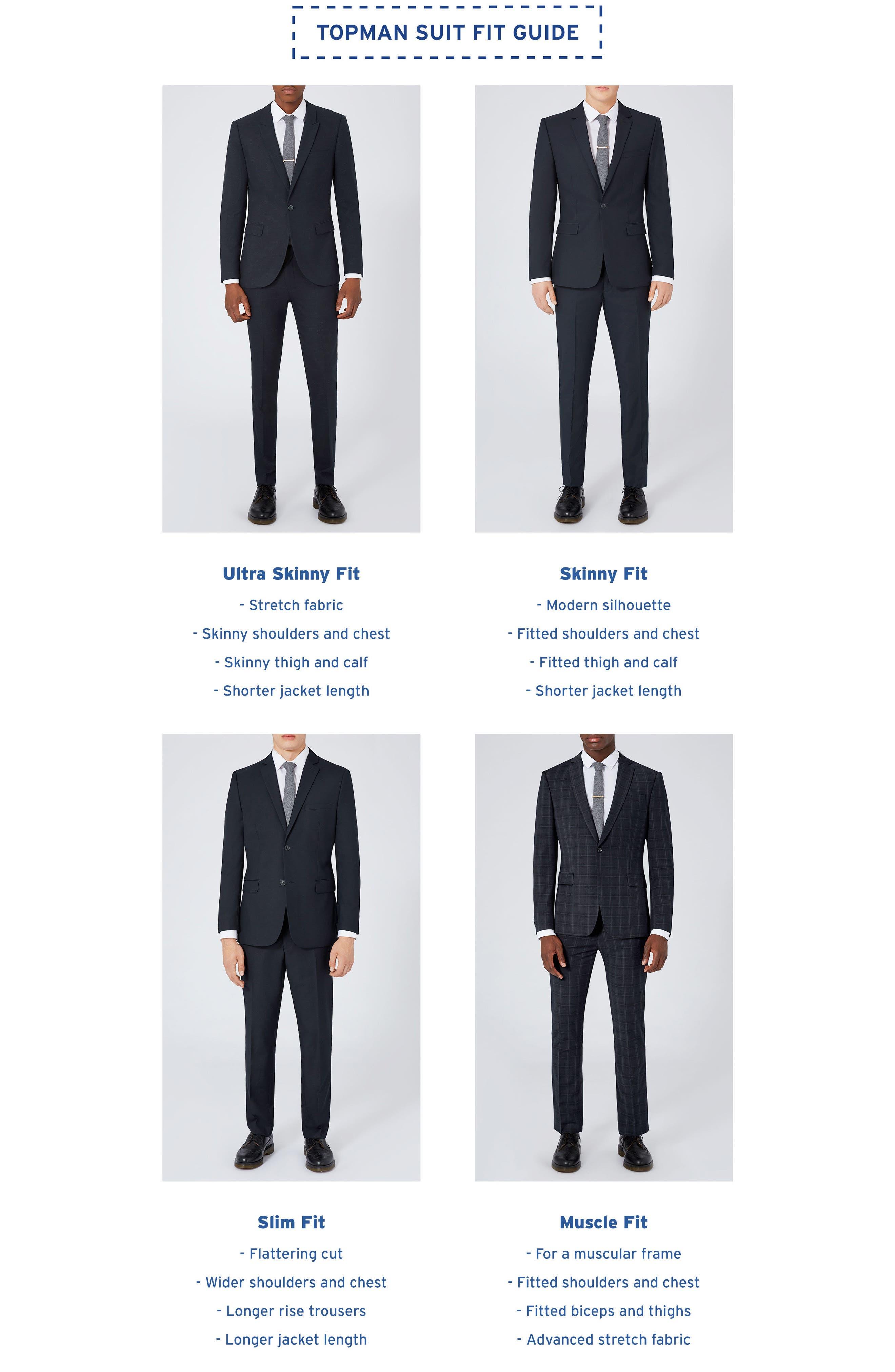 Alternate Image 5  - Topman Skinny Fit Stripe Suit Jacket