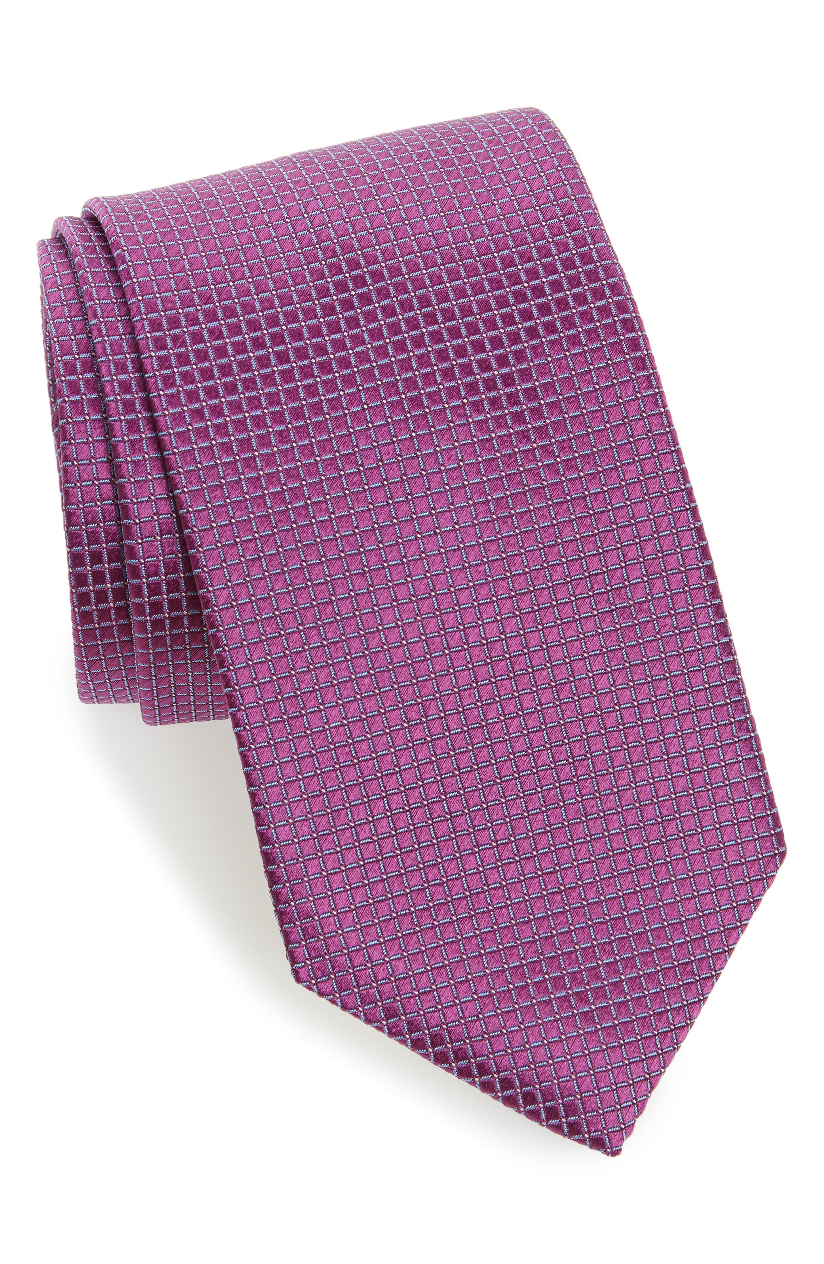 David Donahue Grid Silk Tie