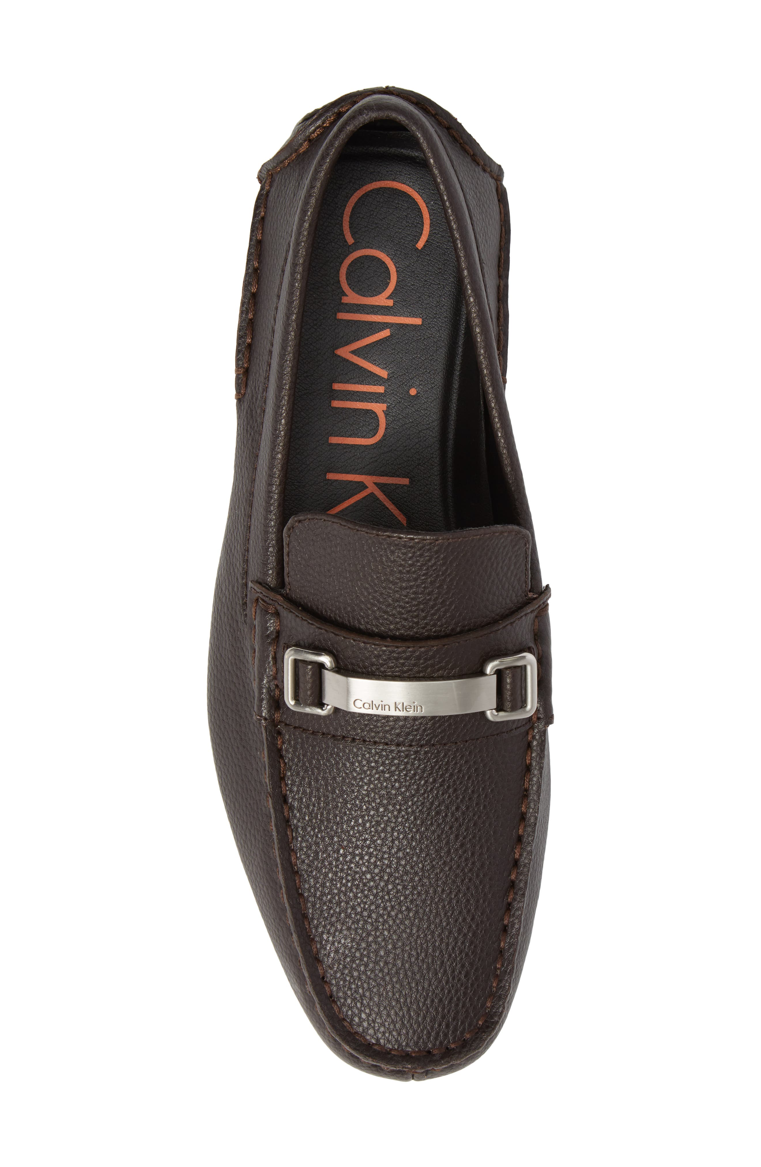 Mikos Driving Shoe,                             Alternate thumbnail 5, color,                             Dark Brown Leather