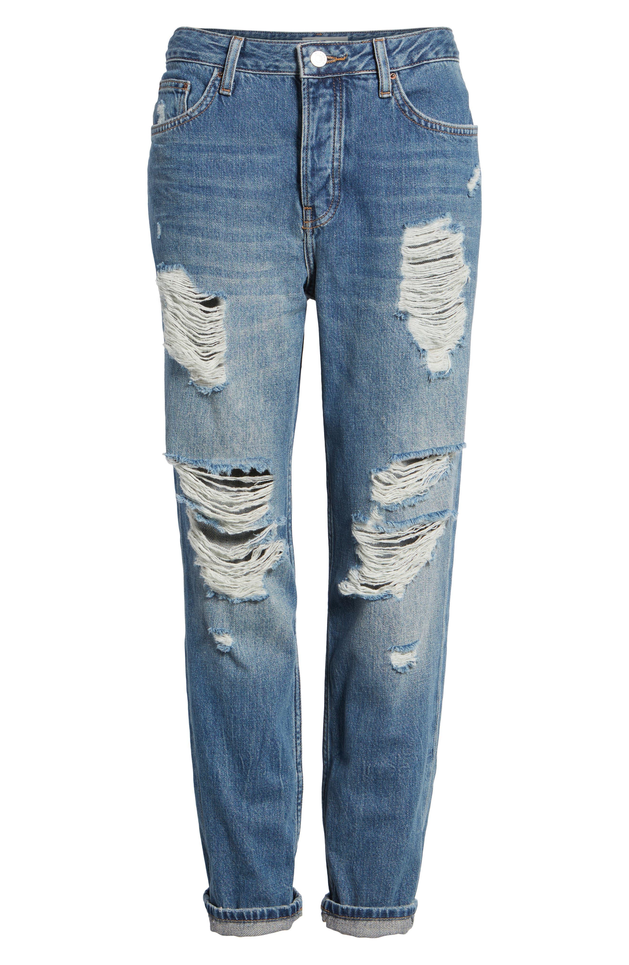 Alternate Image 6  - Topshop Hayden Super Ripped Boyfriend Jeans