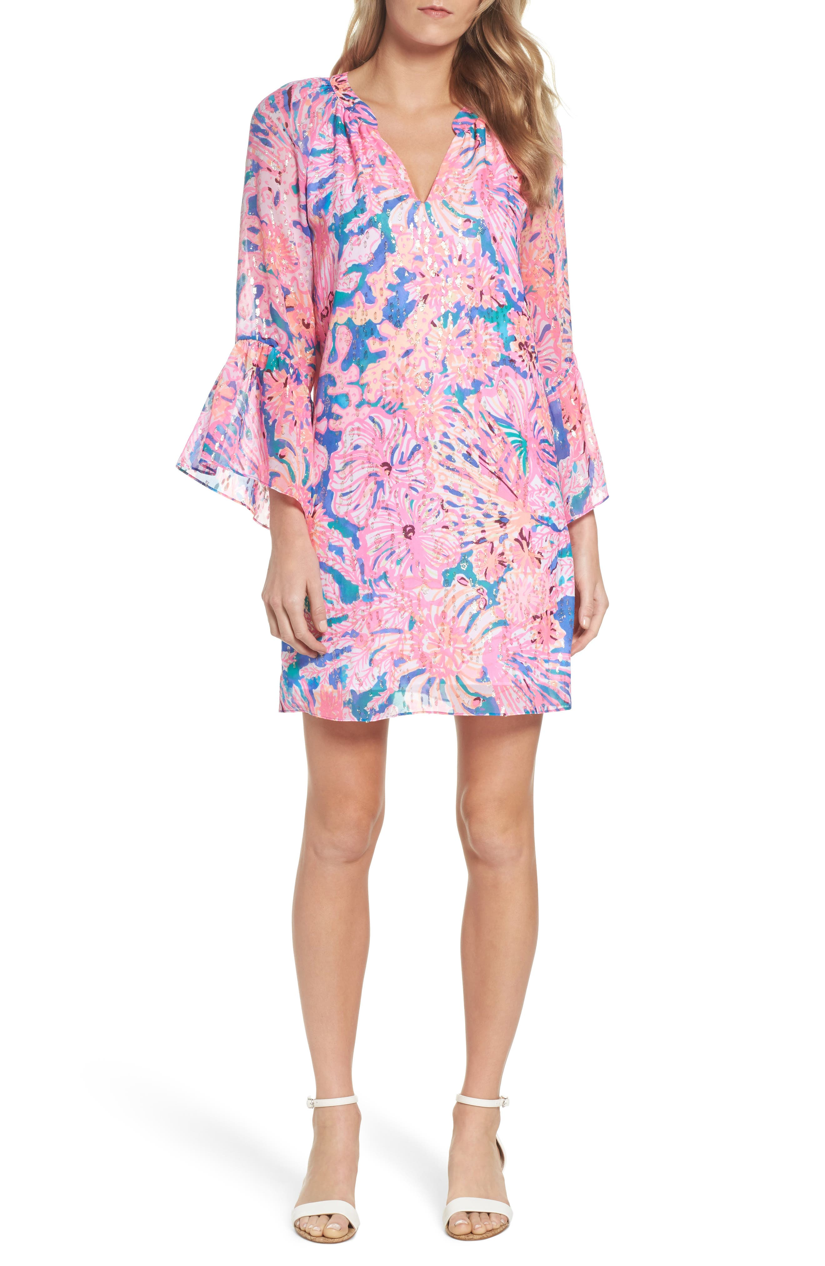 Matilda Tunic Dress,                             Main thumbnail 1, color,                             Multi Swirling Seadream
