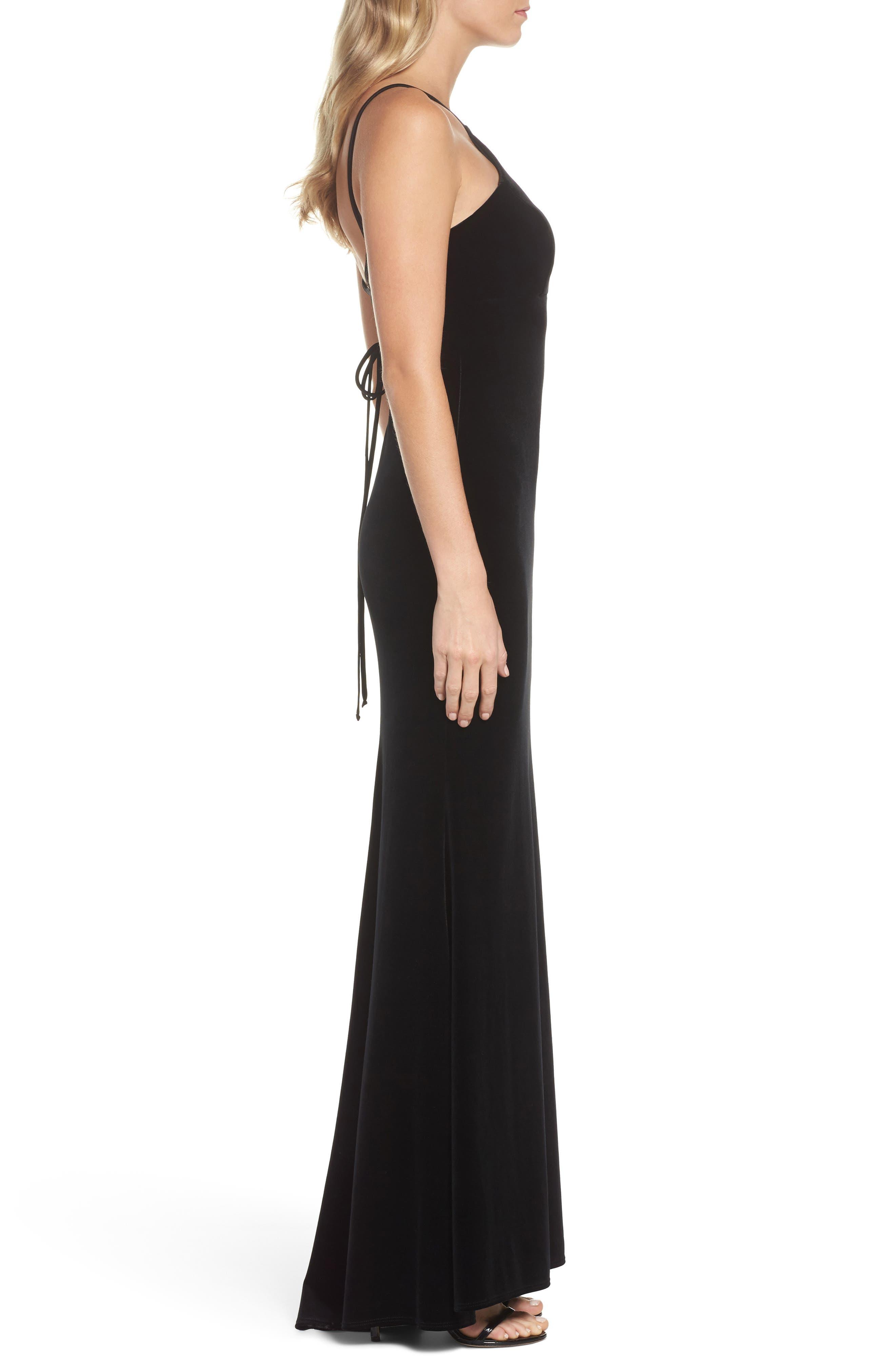Alternate Image 3  - Xscape Halter Velvet Mermaid Gown