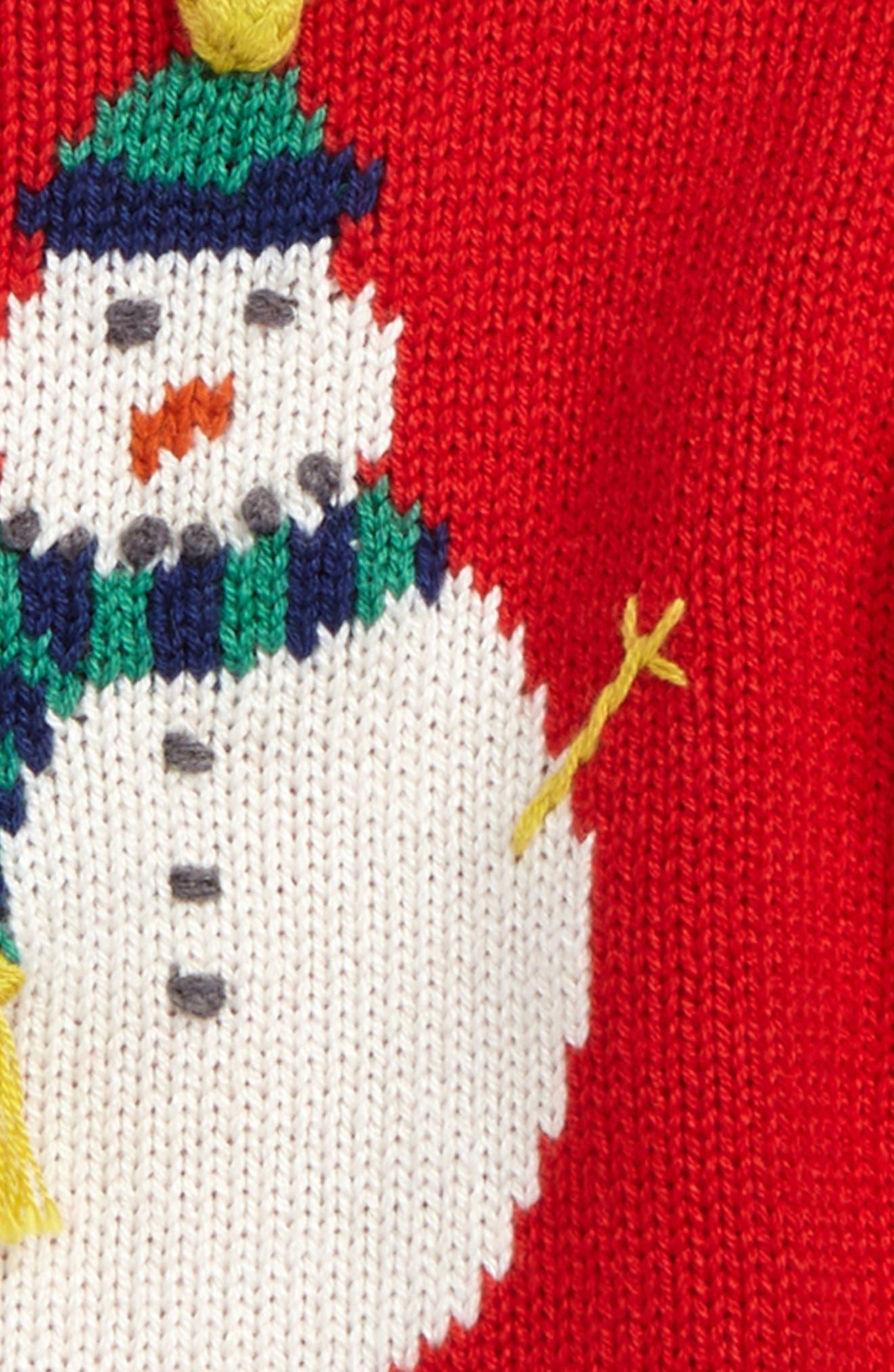 Fun Knit Sweater,                             Alternate thumbnail 2, color,                             Beatnik Red Snowman