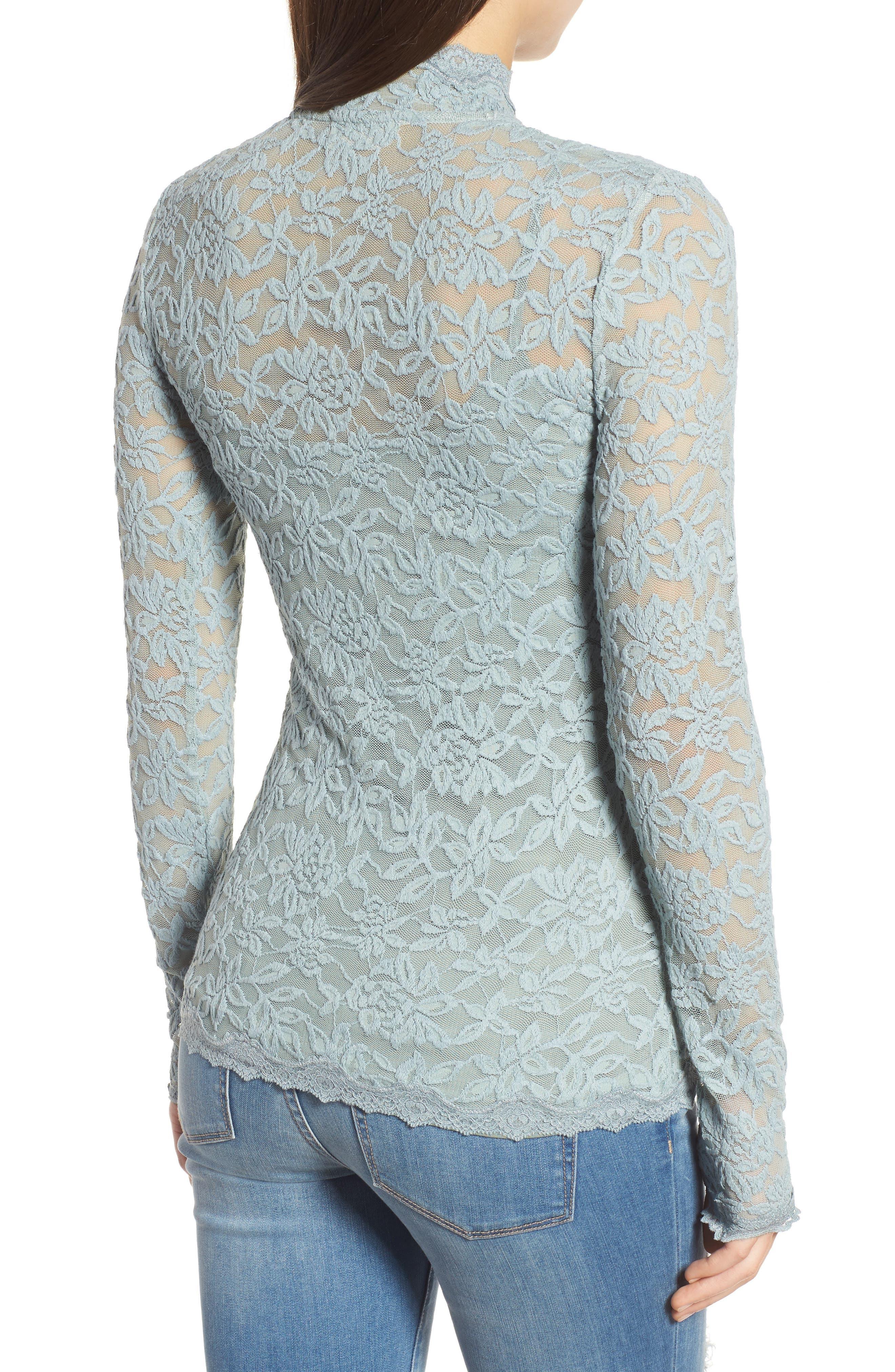 Delicia Long Sleeve Top,                             Alternate thumbnail 2, color,                             Puritan Grey