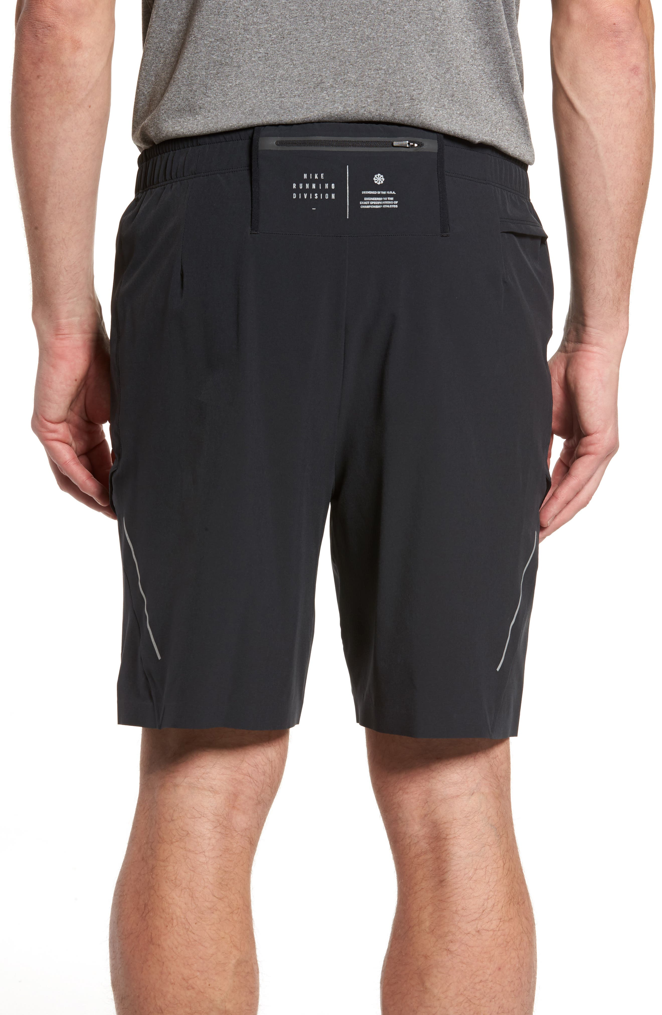 Running Shield Shorts,                             Alternate thumbnail 2, color,                             Black