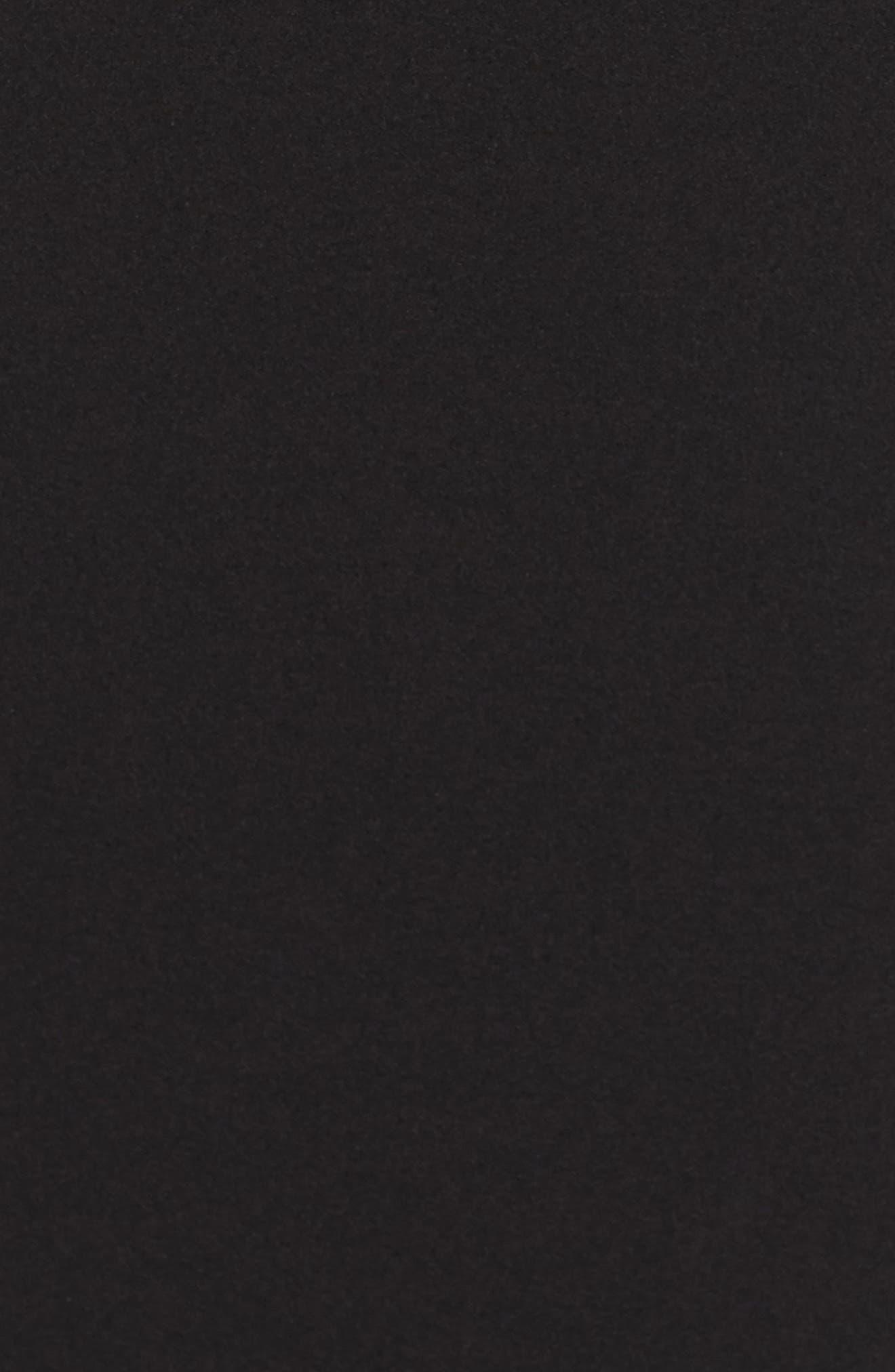 Tie Sleeve Sheath Dress,                             Alternate thumbnail 5, color,                             Black