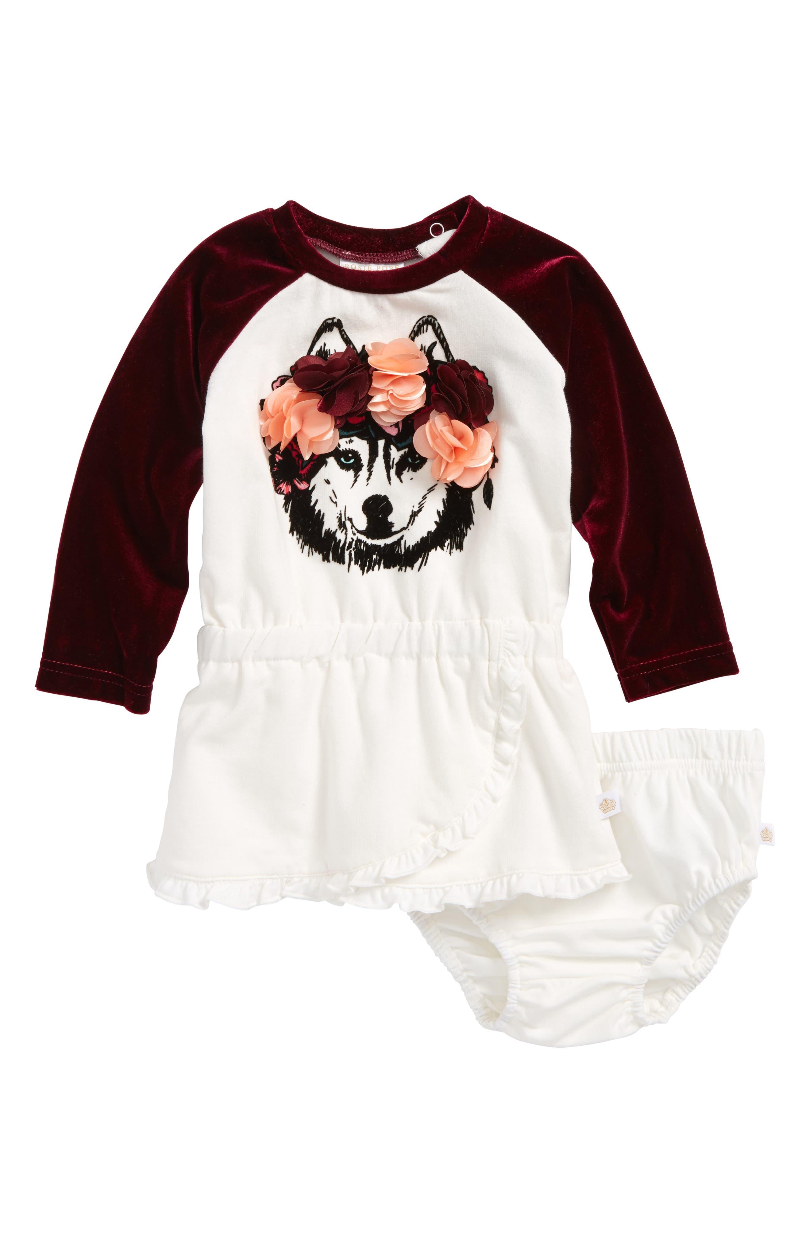 Rosie Pope Wolf Pack Dress (Baby Girls)