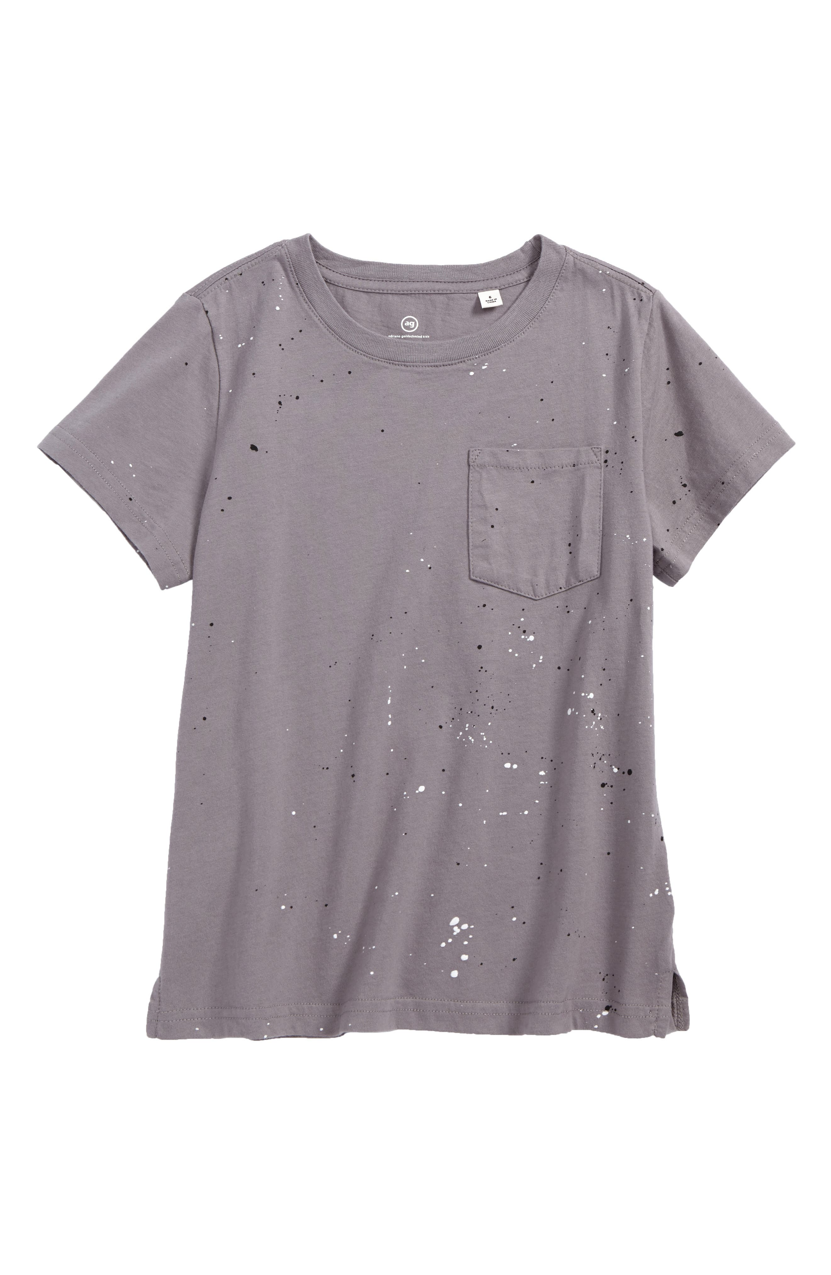 AG Paint Splatter T-Shirt,                         Main,                         color, Smog
