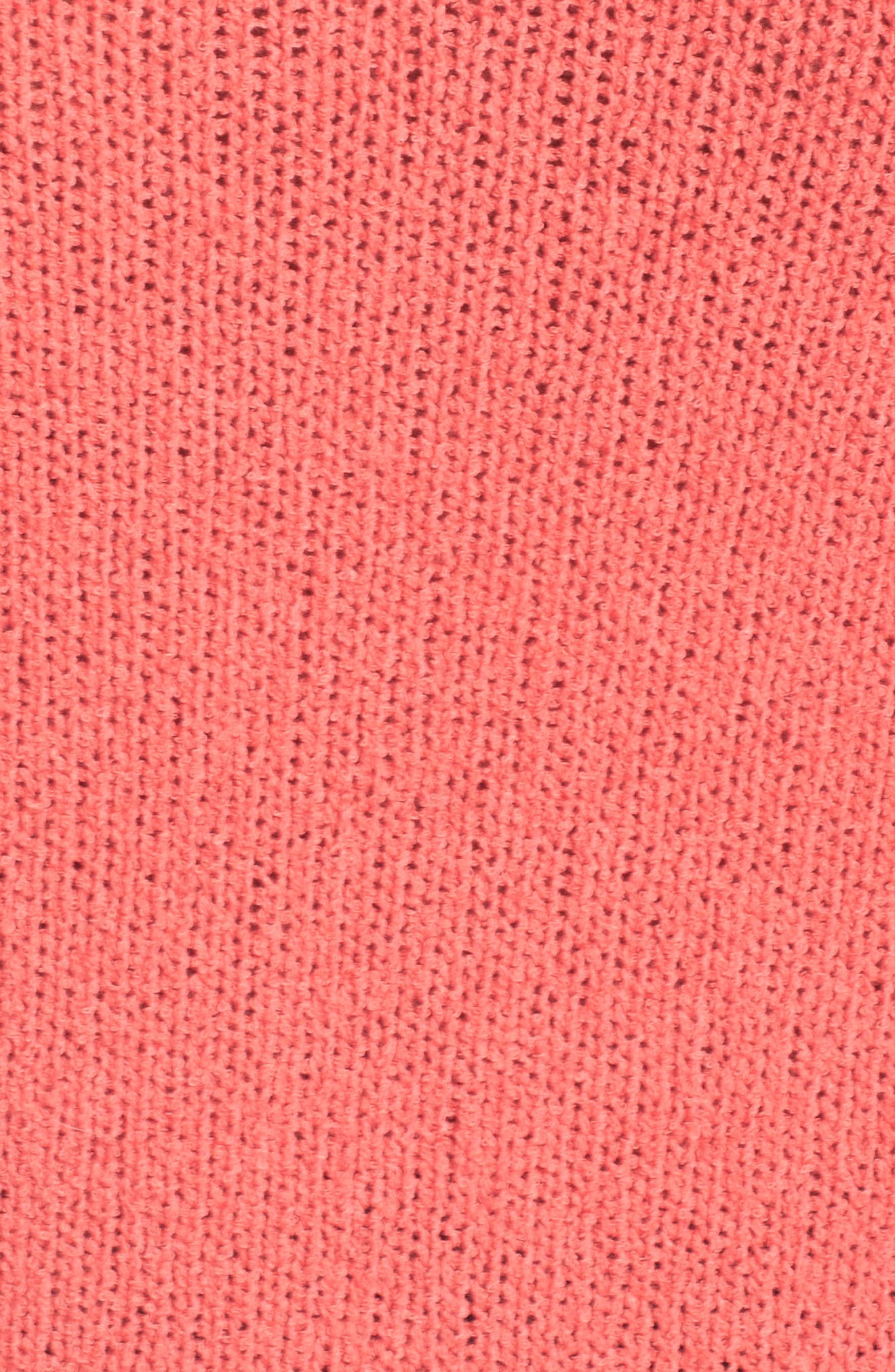 Relaxed Crewneck Sweater,                             Alternate thumbnail 6, color,                             Coral Sea