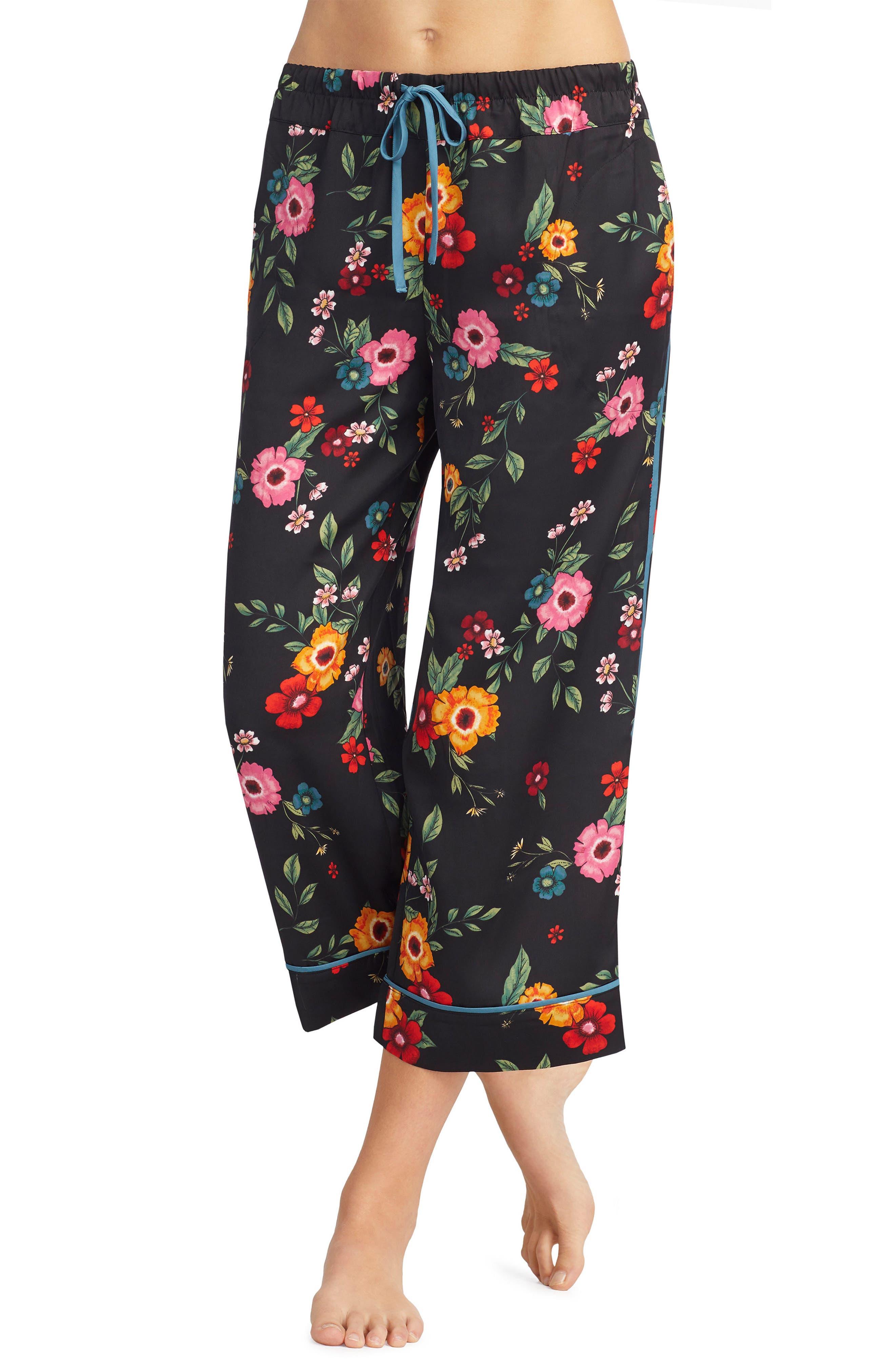 Room Service Crop Satin Pajama Pants