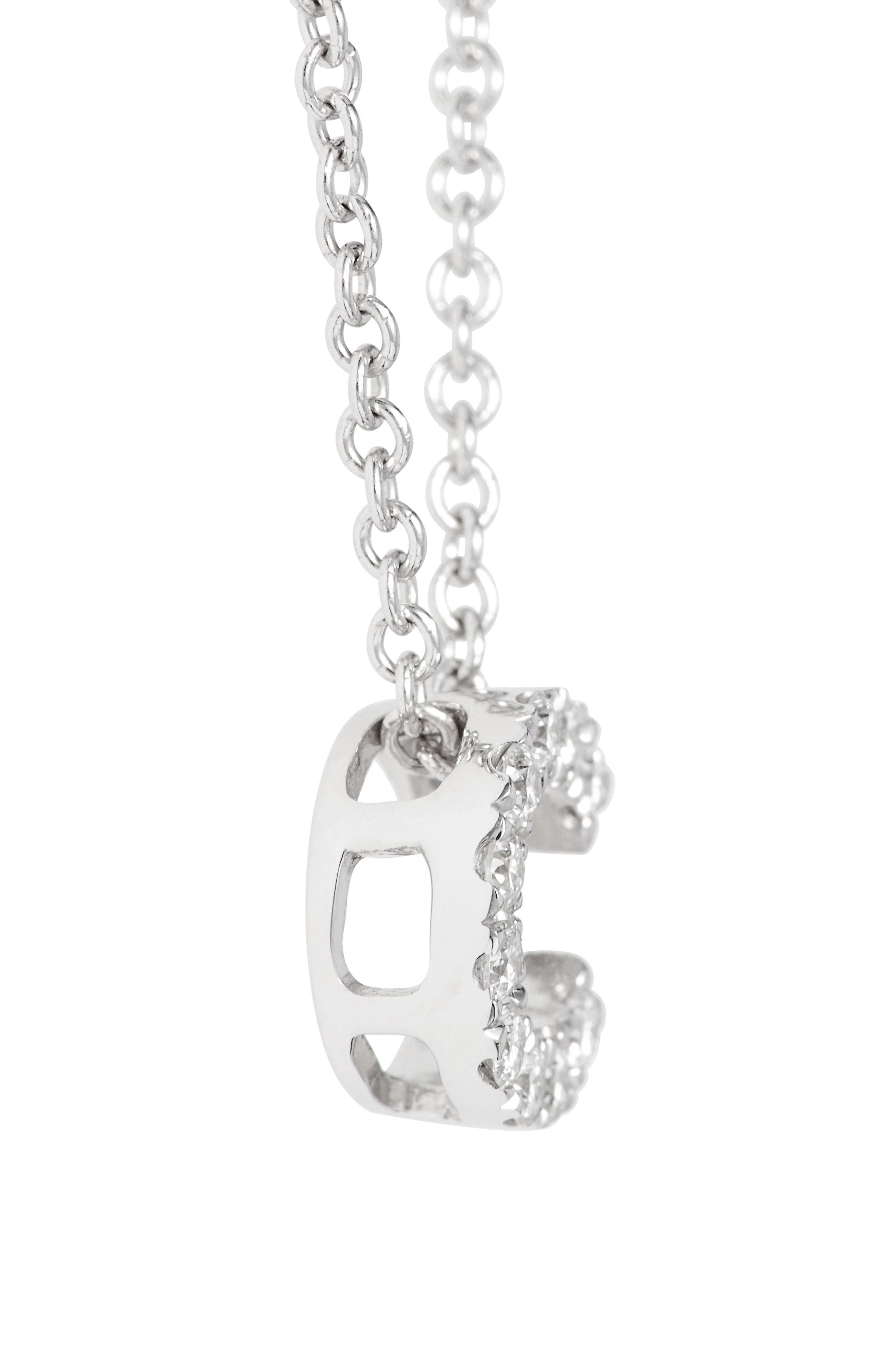 Alternate Image 3  - Bony Levy Pavé Diamond Initial Pendant Necklace (Nordstrom Exclusive)