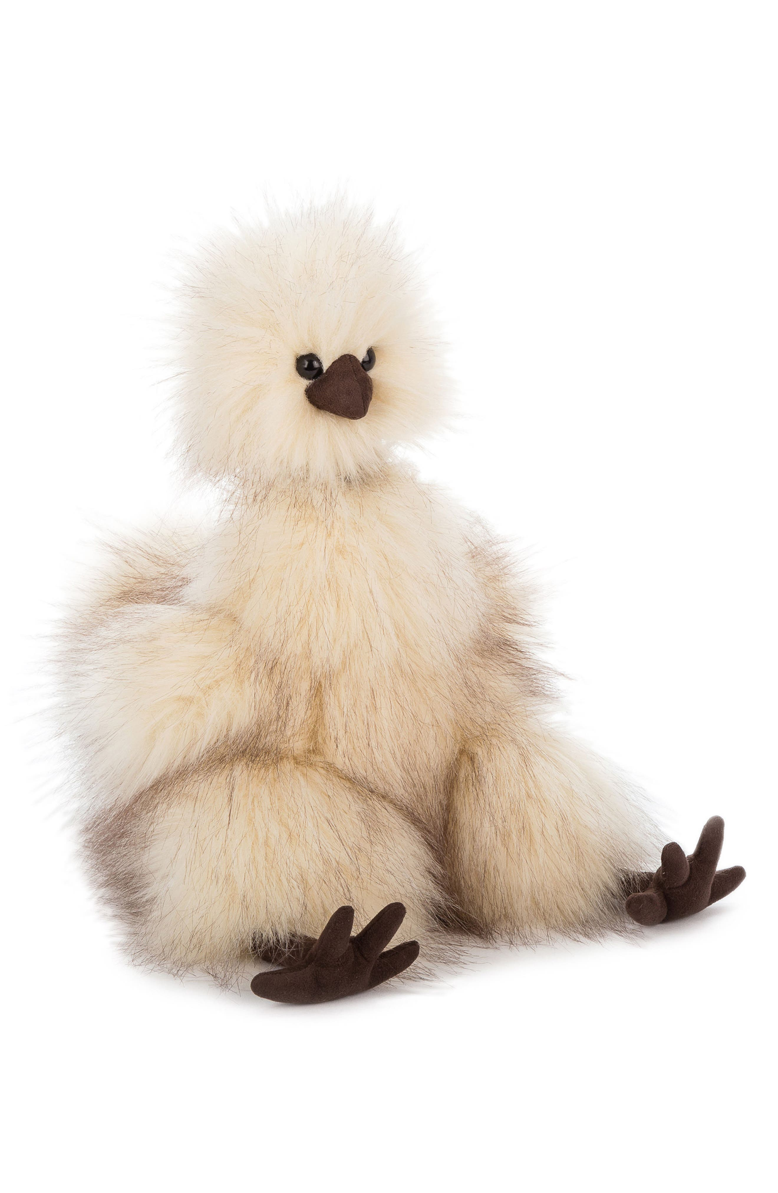Silkie Chicken Stuffed Toy,                         Main,                         color, Cream