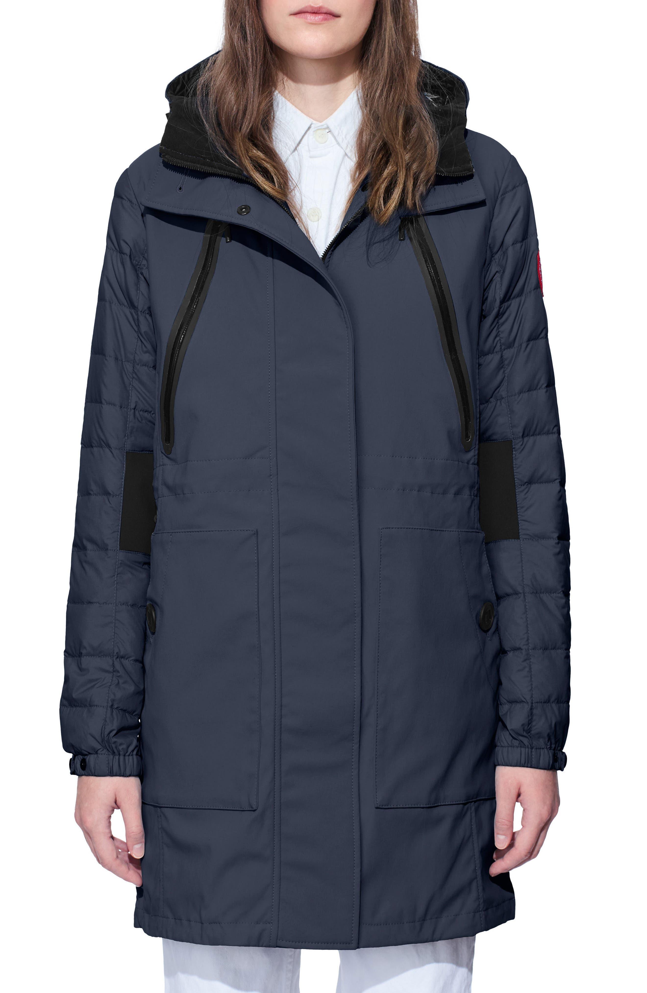 Sabine Coat,                             Main thumbnail 1, color,                             Polar Sea/ Black