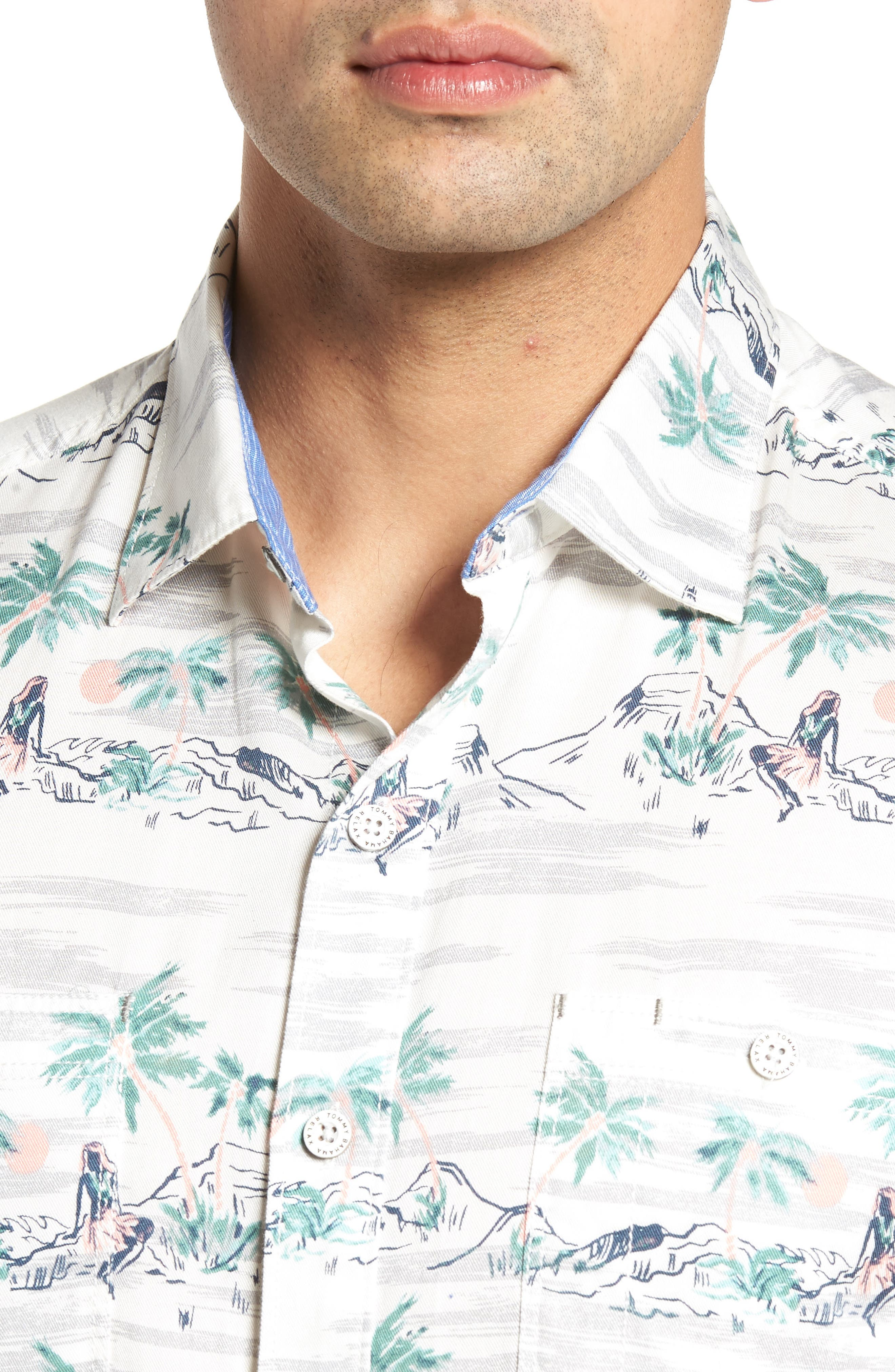 What the Hula Camp Shirt,                             Alternate thumbnail 4, color,                             Coconut Cream
