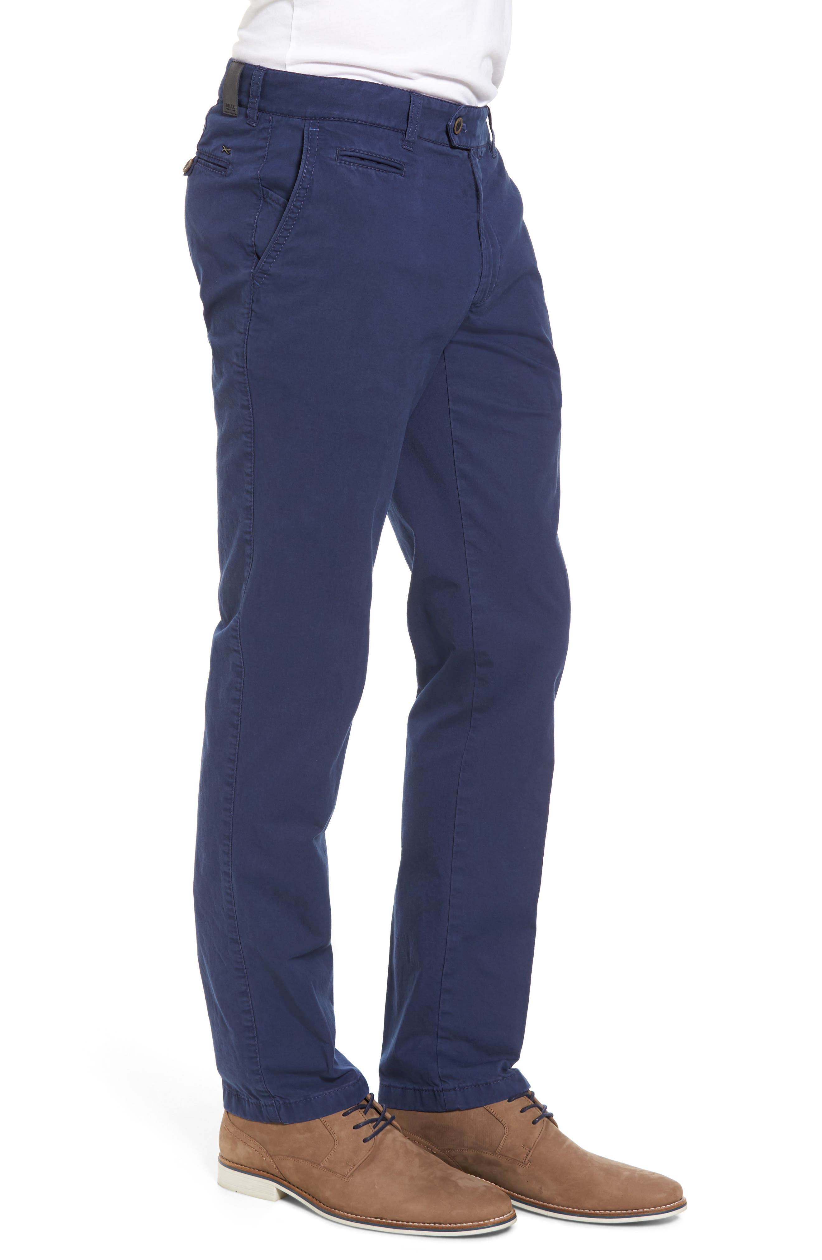 Everest Flat Front Chinos,                             Alternate thumbnail 3, color,                             Pacific