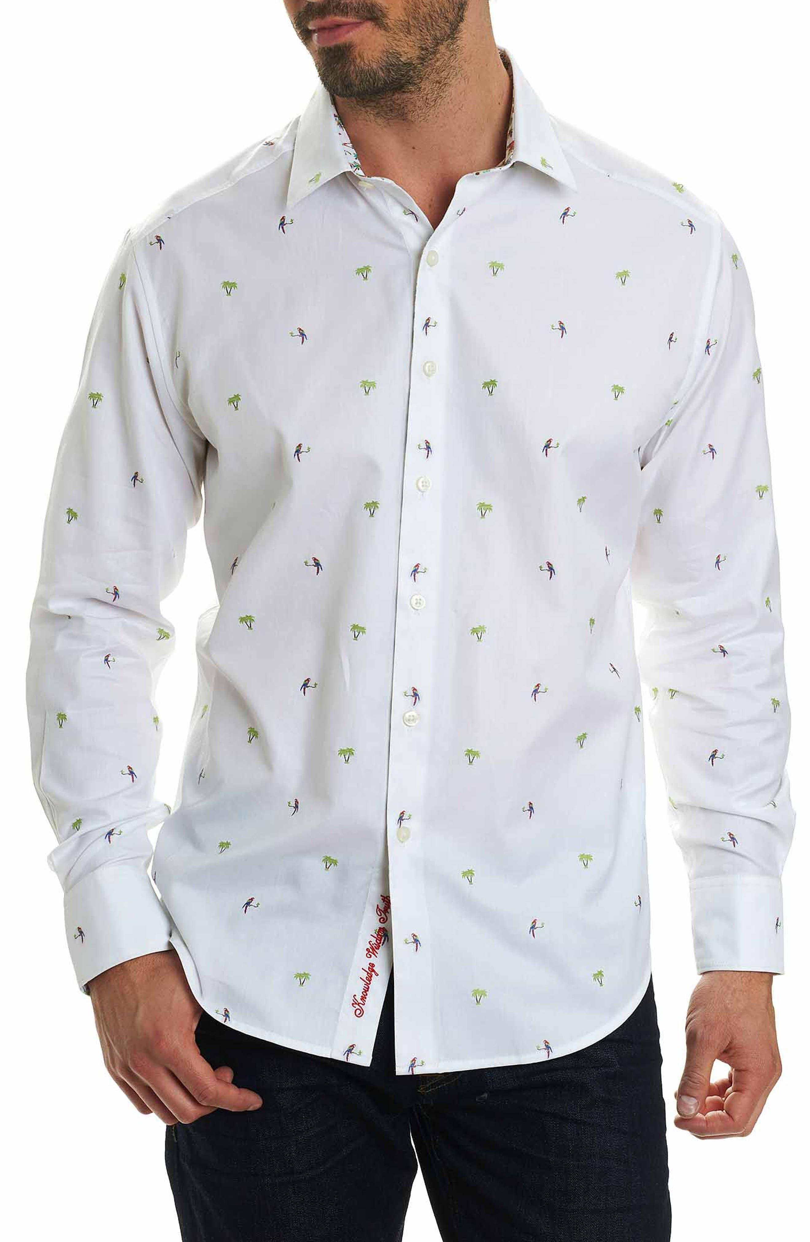 Main Image - Robert Graham Palm Leaves Classic Fit Sport Shirt