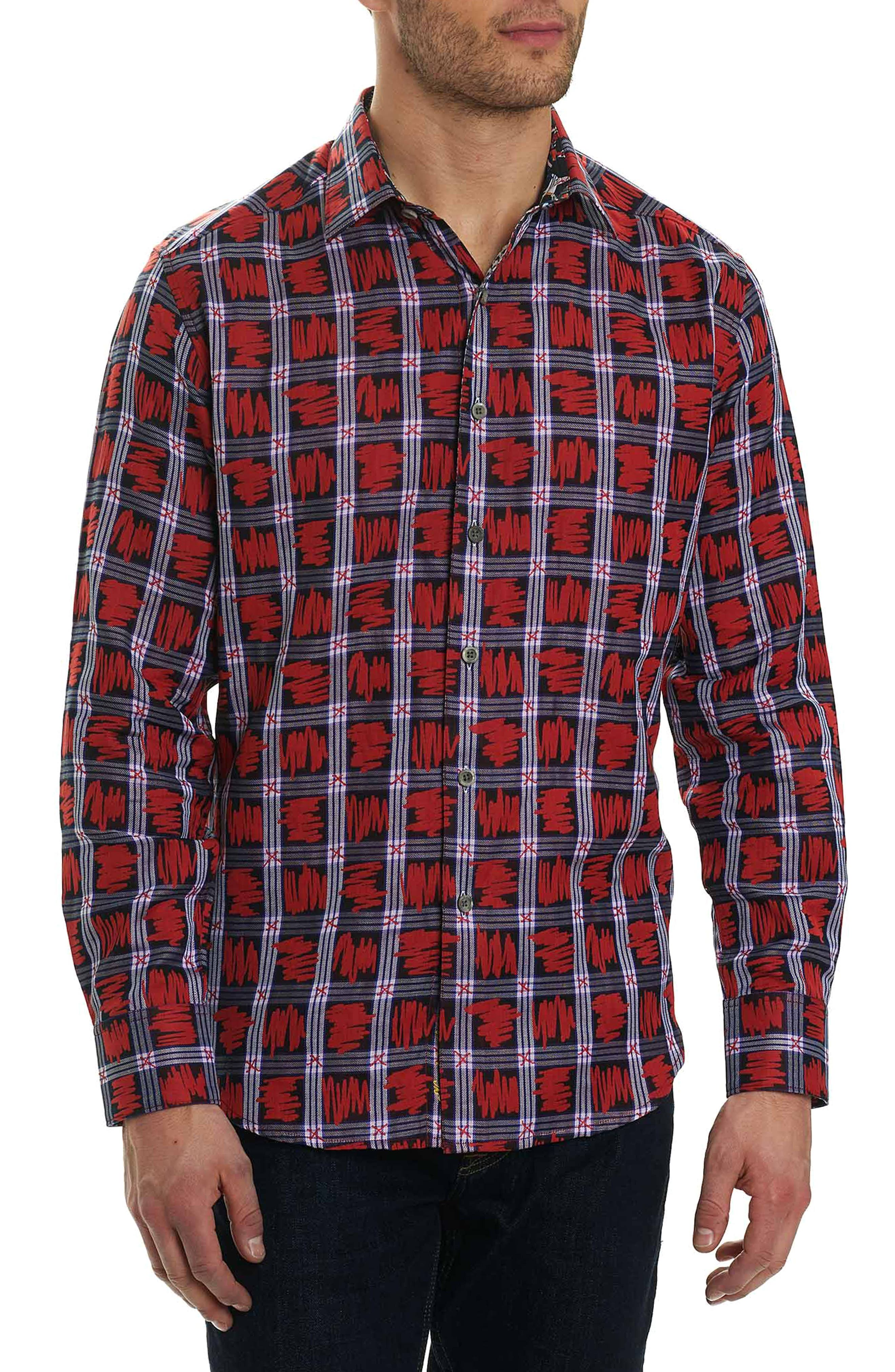 Nassau Classic Fit Sport Shirt,                         Main,                         color, Red