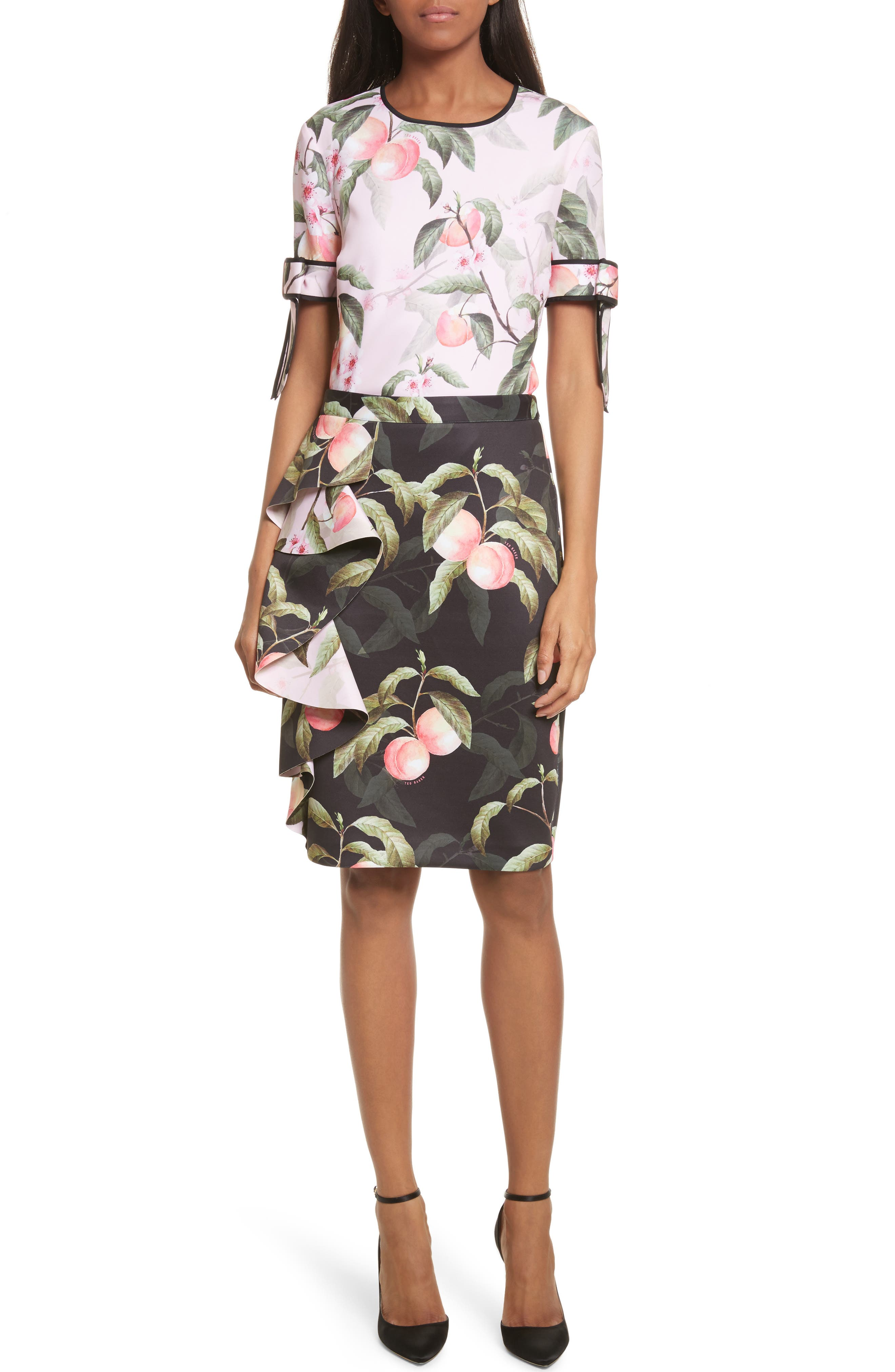 Alternate Image 7  - Ted Baker London Peaches Ruffle Pencil Skirt