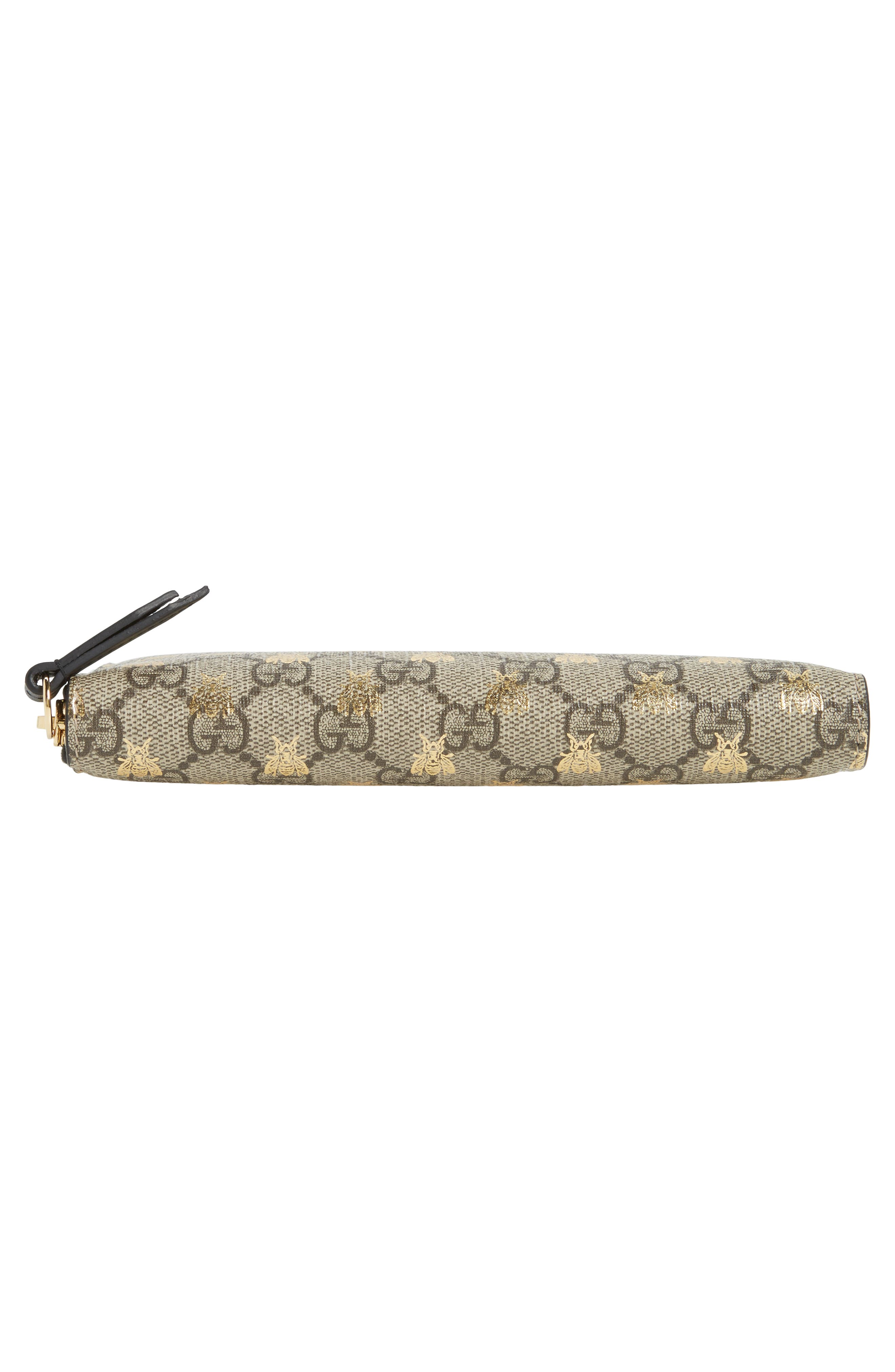 Alternate Image 6  - Gucci Linea A Bee GG Zip-Around Wallet