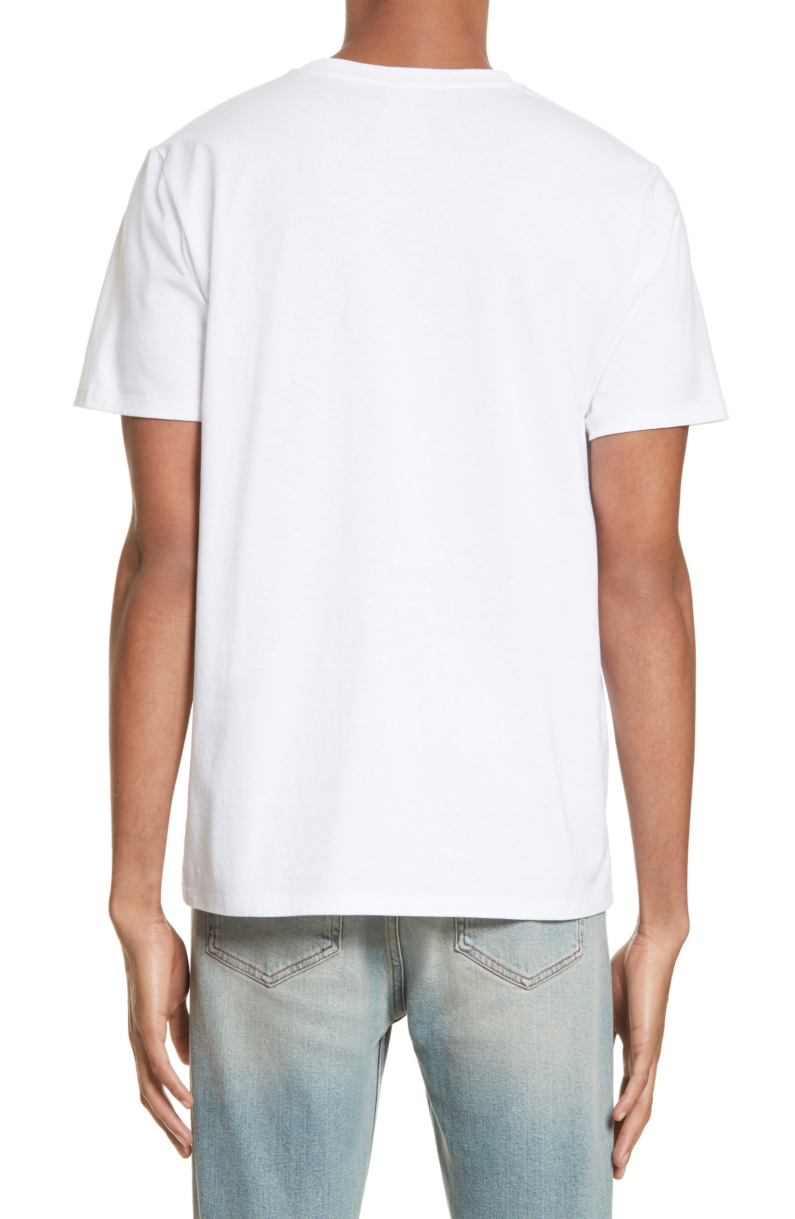 Palm Tree Graphic T-Shirt,                             Alternate thumbnail 2, color,                             Blanc Aab