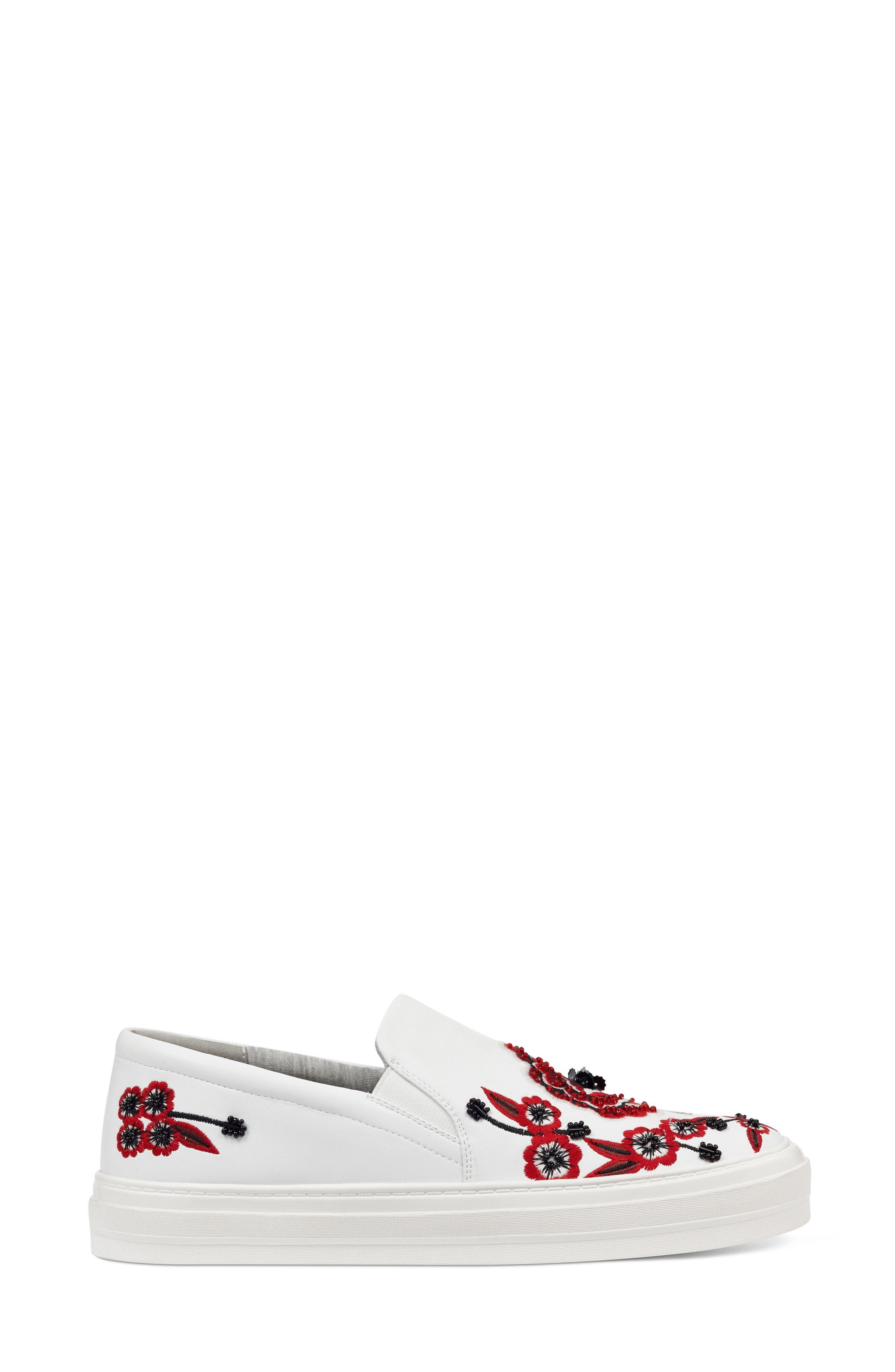 Alternate Image 3  - Nine West Onyeka Embroidered Slip-On Sneaker (Women)