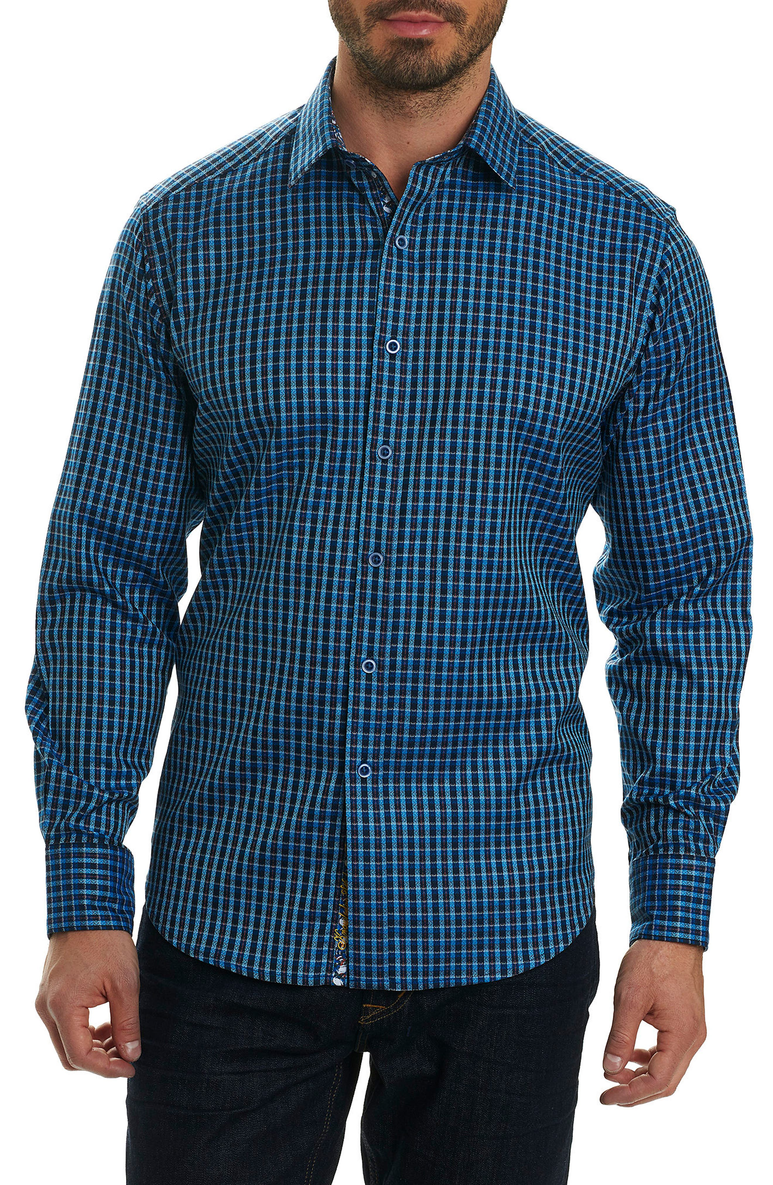 Matira Classic Fit Check Sport Shirt,                         Main,                         color, Blue