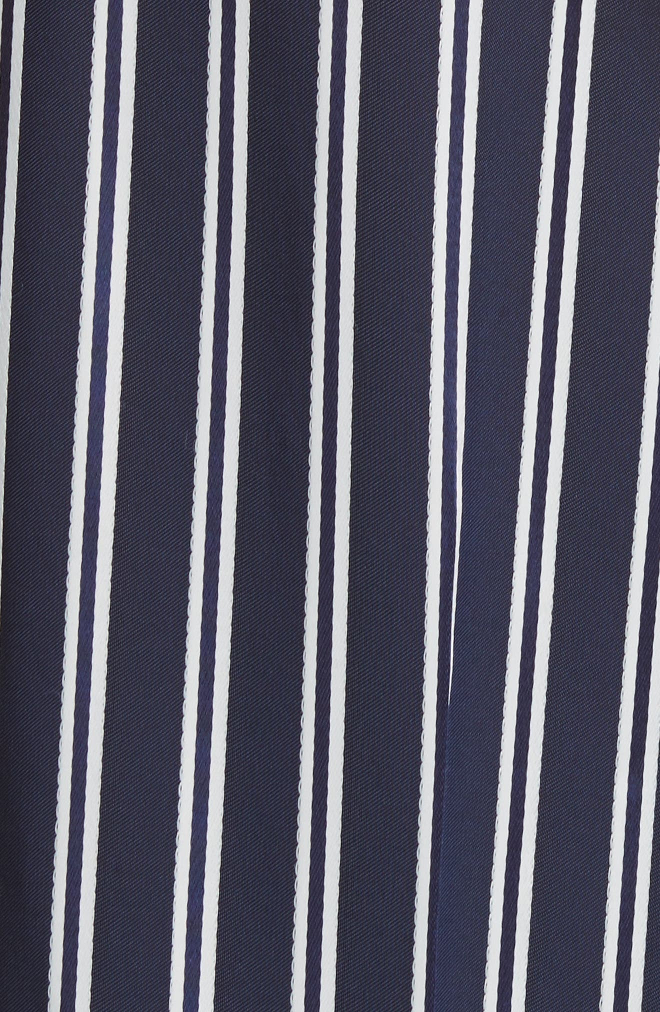 Diane von Furstenberg Stripe Palazzo Pants,                             Alternate thumbnail 5, color,                             Alexander Navy/ Ivory