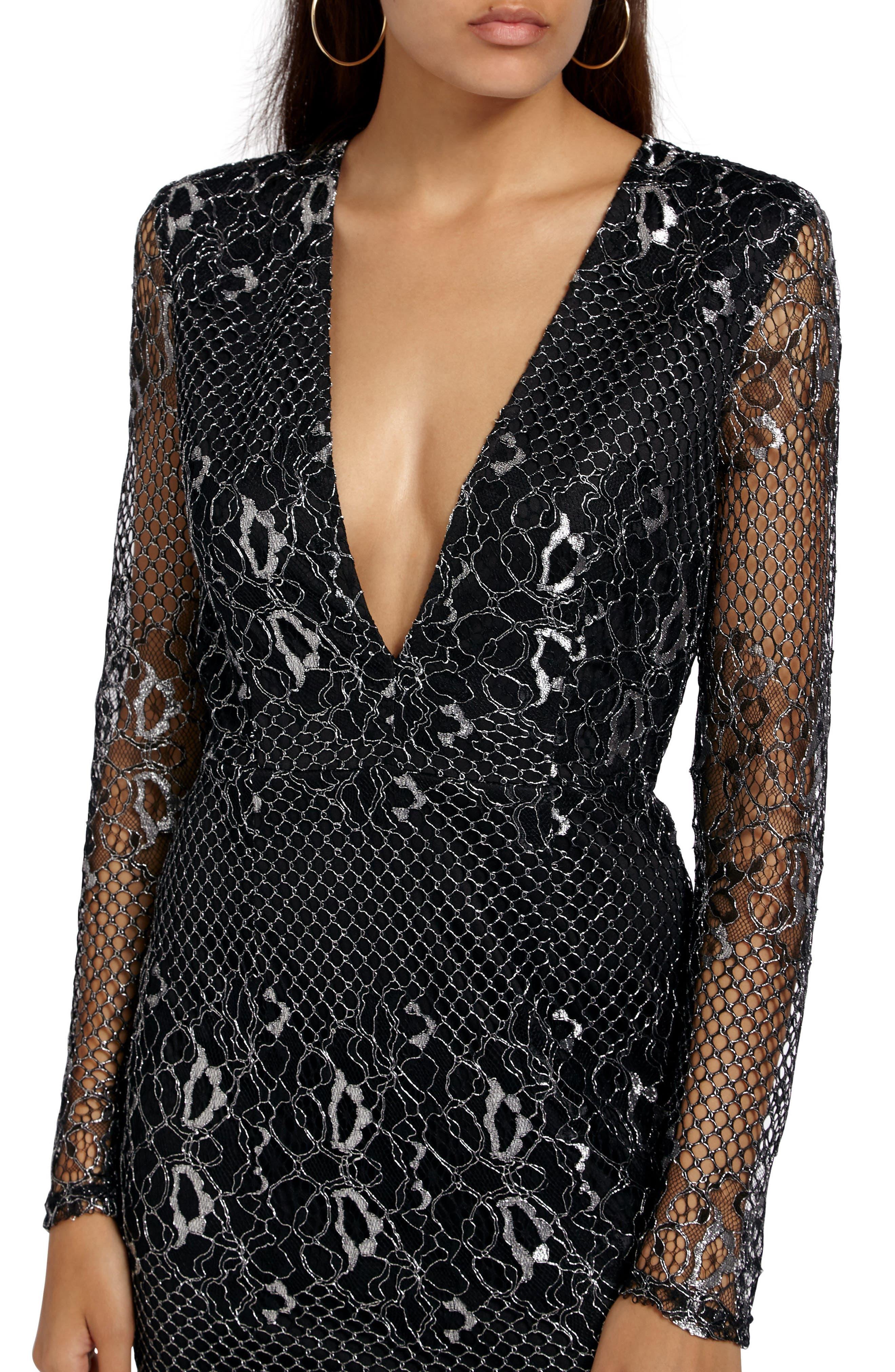 Alternate Image 4  - Missguided Mesh & Lace Minidress