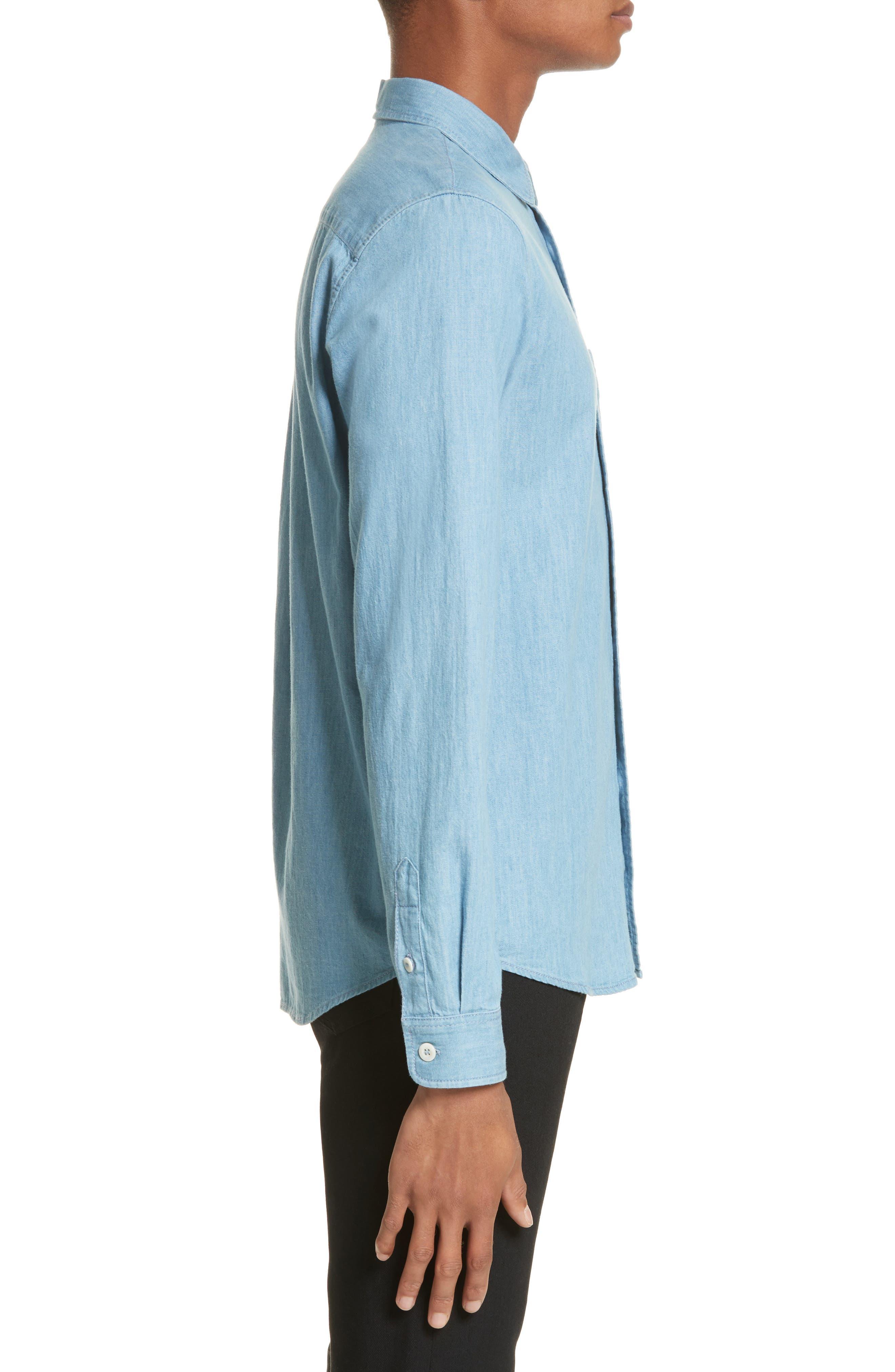 Chambray Shirt,                             Alternate thumbnail 4, color,                             Bleu Iaa
