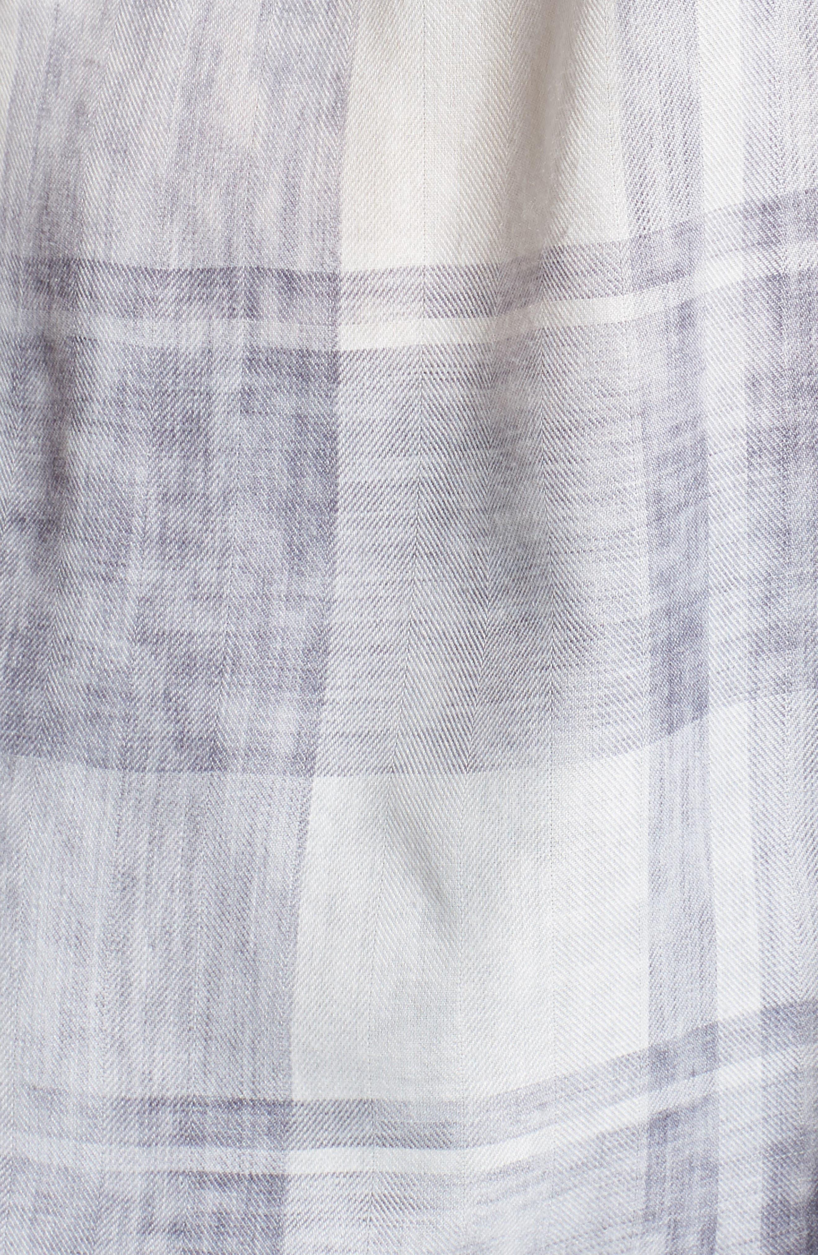 Alternate Image 5  - Two by Vince Camuto Quaint Plaid Button Down Shirt (Plus Size)