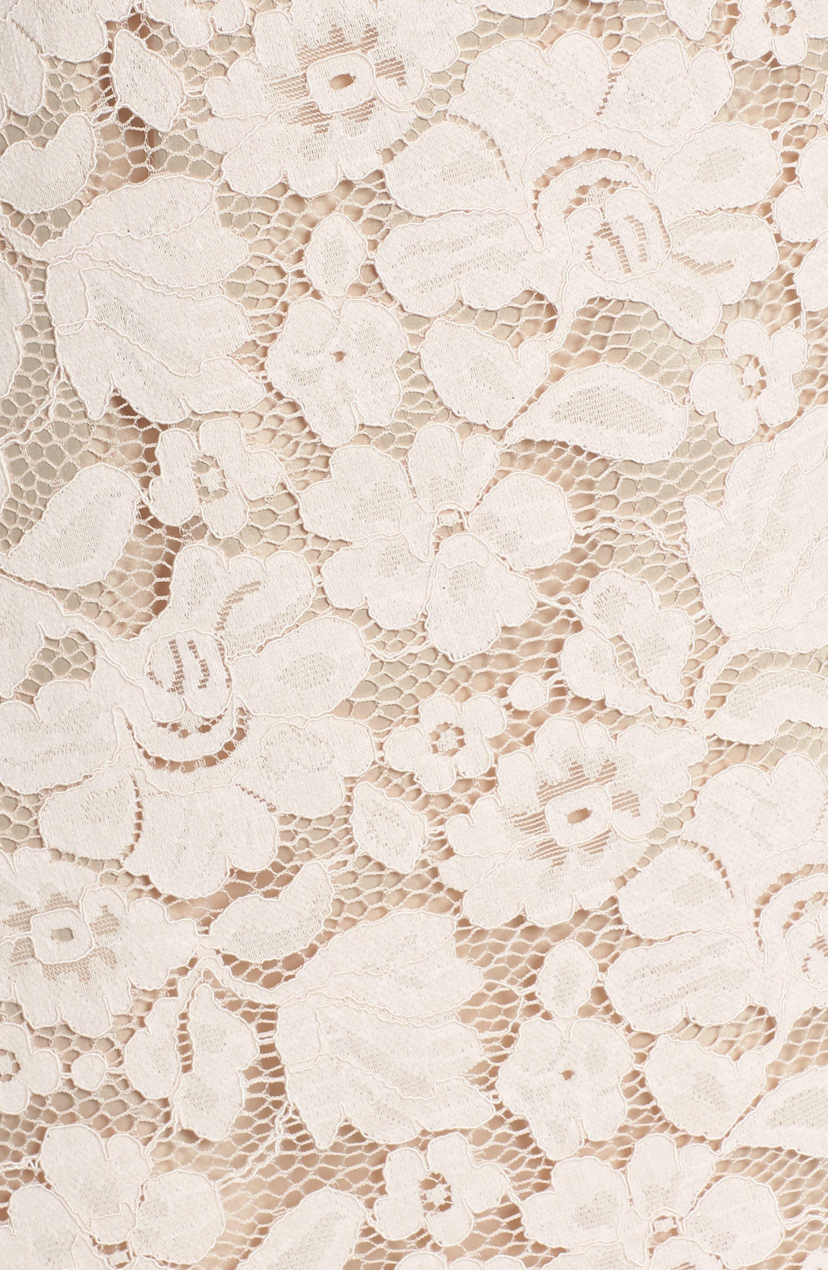 Lace Shift Dress,                             Alternate thumbnail 5, color,                             Blush