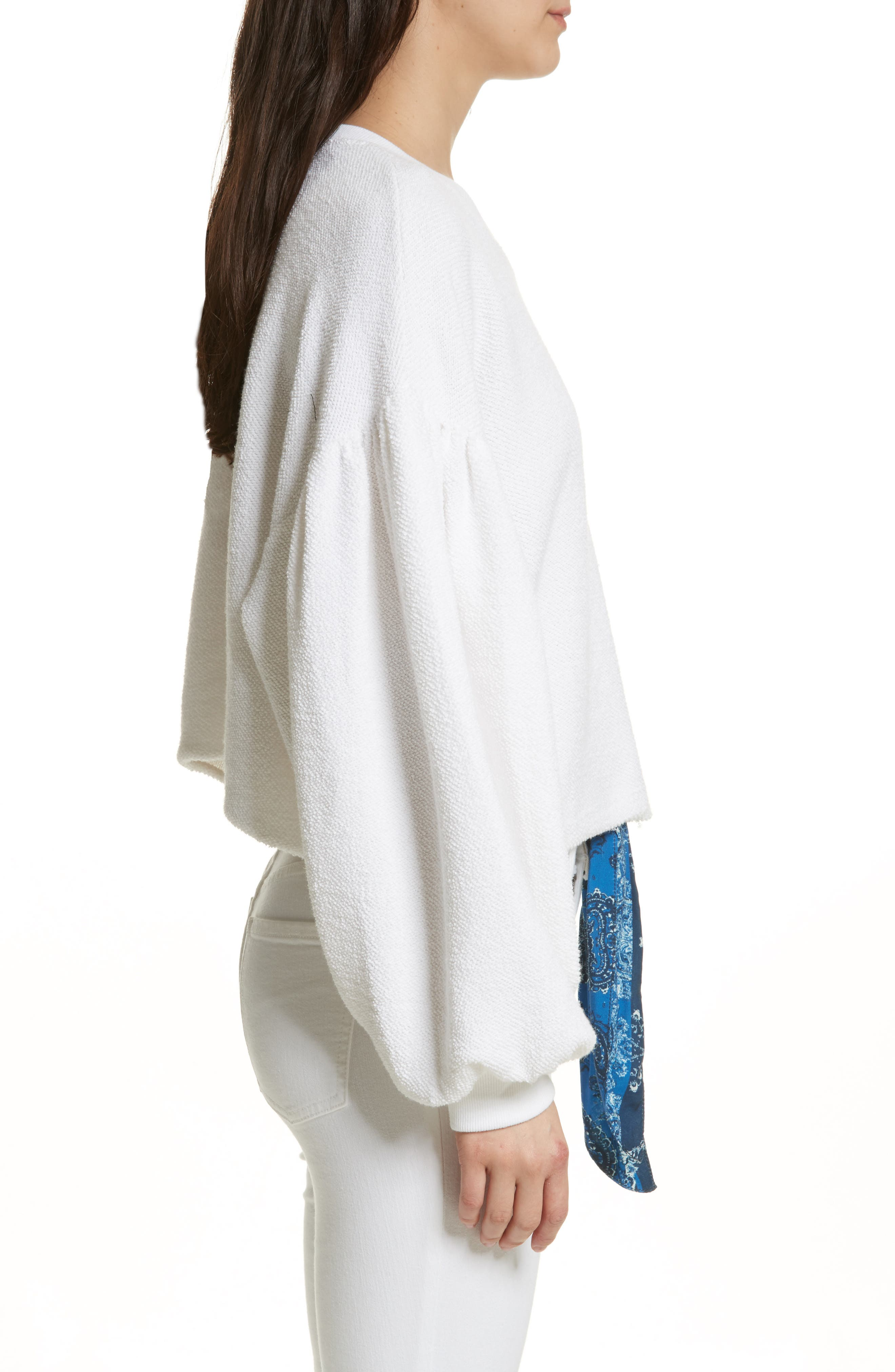 Sleeves like These Sweater,                             Alternate thumbnail 3, color,                             White