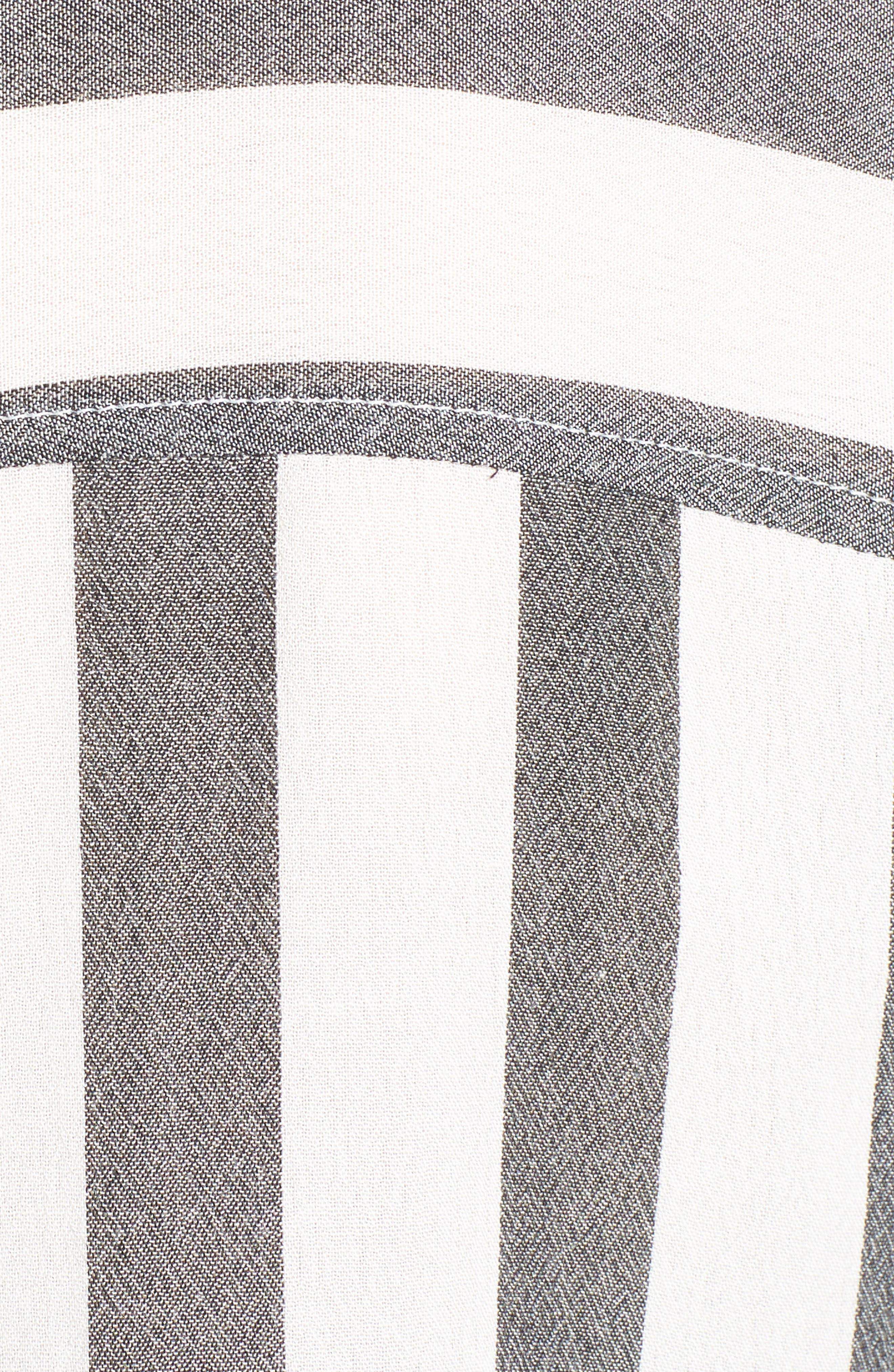 The Perfect Shirt,                             Alternate thumbnail 5, color,                             Black Flora Stripe