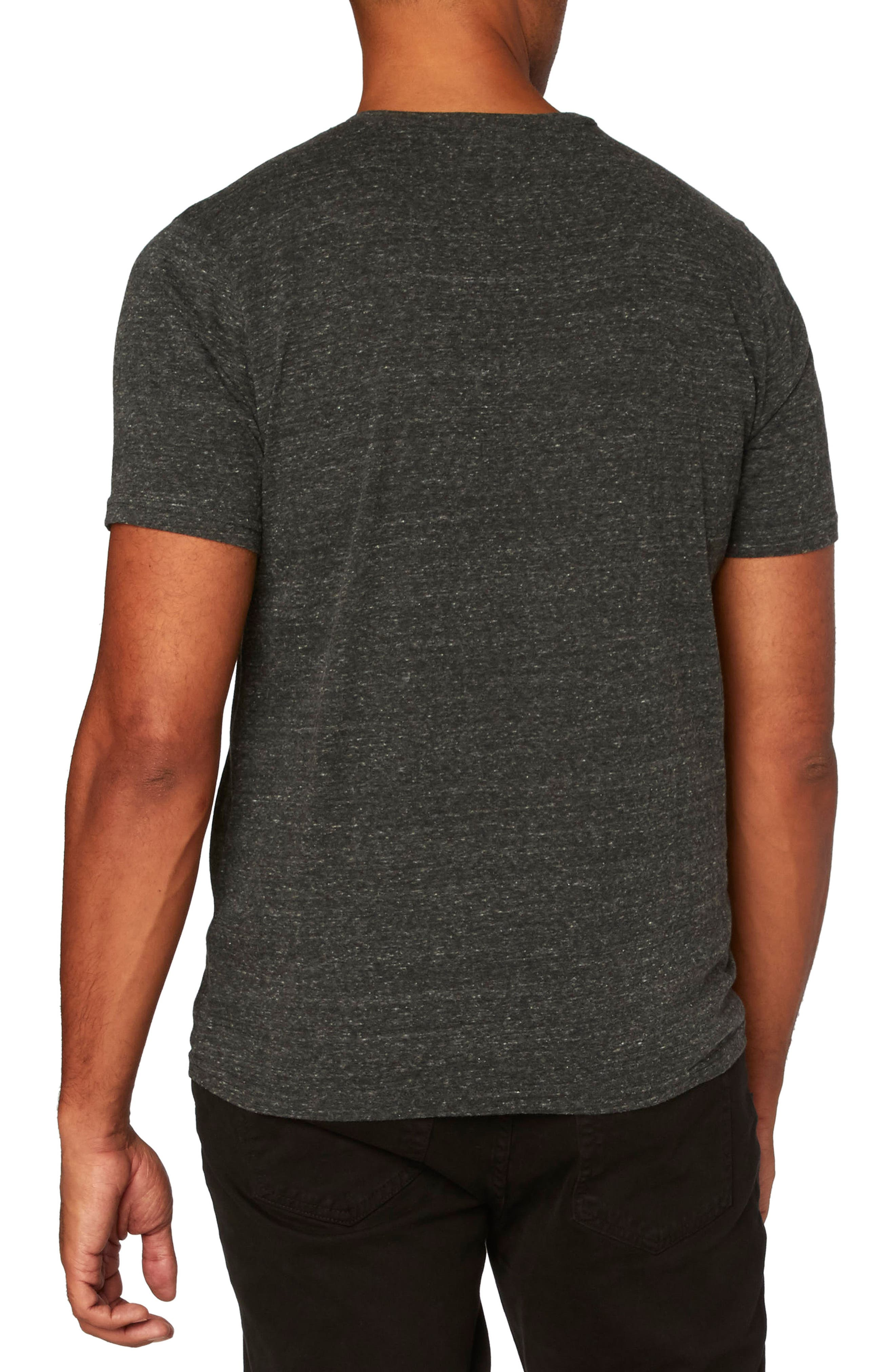 Threads for Thought Henley,                             Alternate thumbnail 2, color,                             Heather Black
