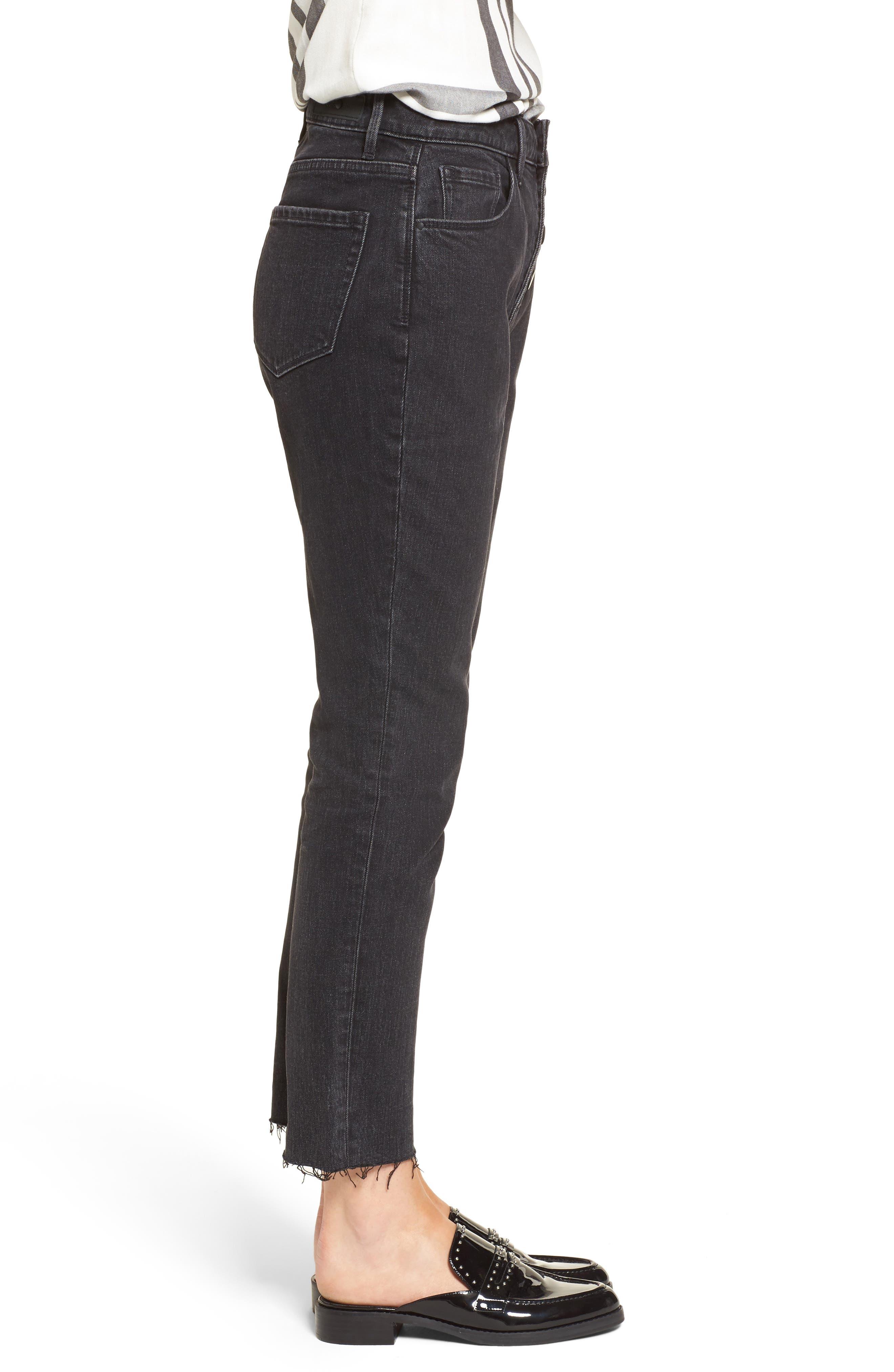 Alternate Image 4  - Treasure & Bond Bond Loose Fit Ankle Skinny Jeans (Black Dark Vintage)
