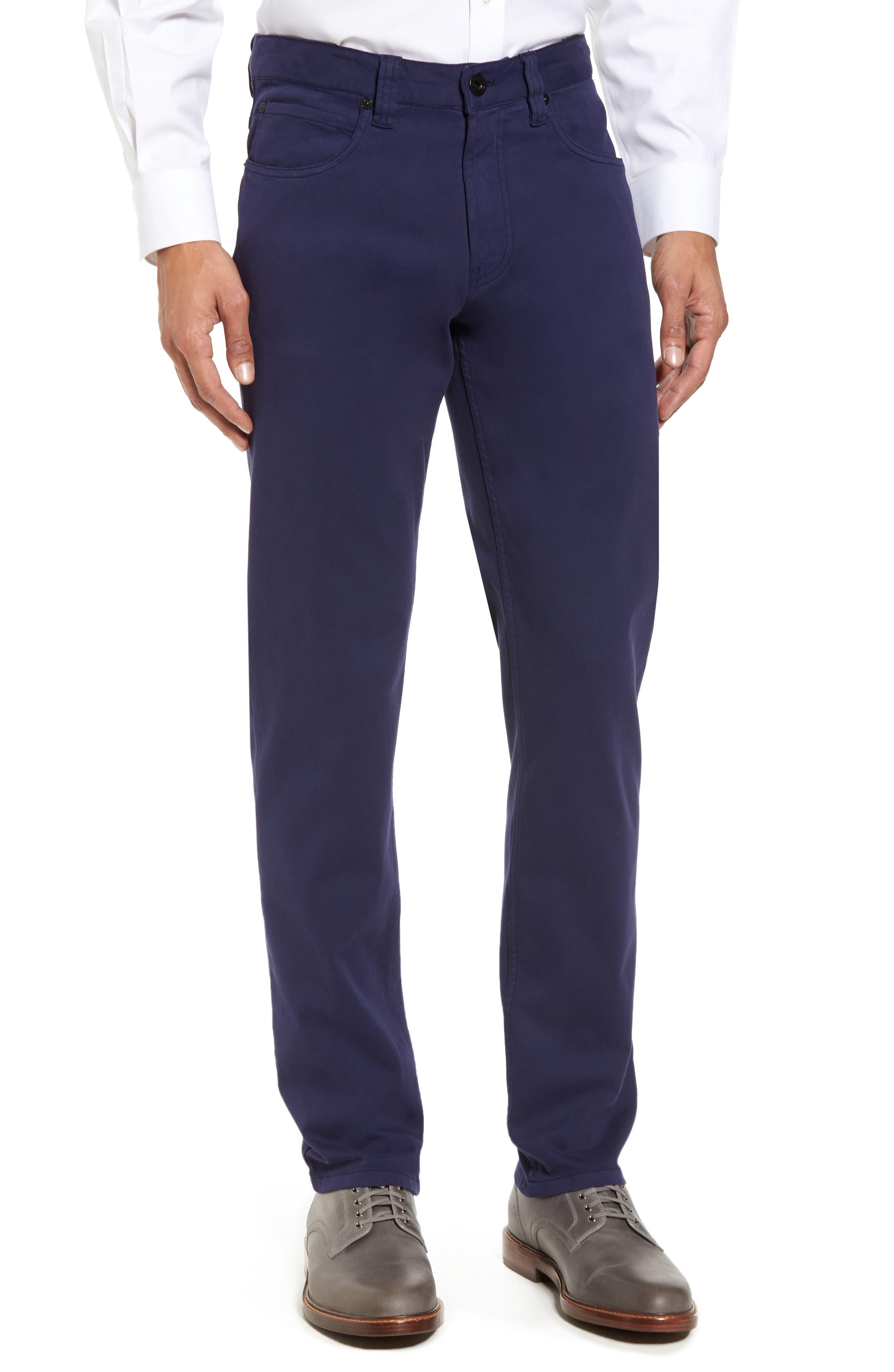Bugatchi Straight Leg Five-Pocket Pants