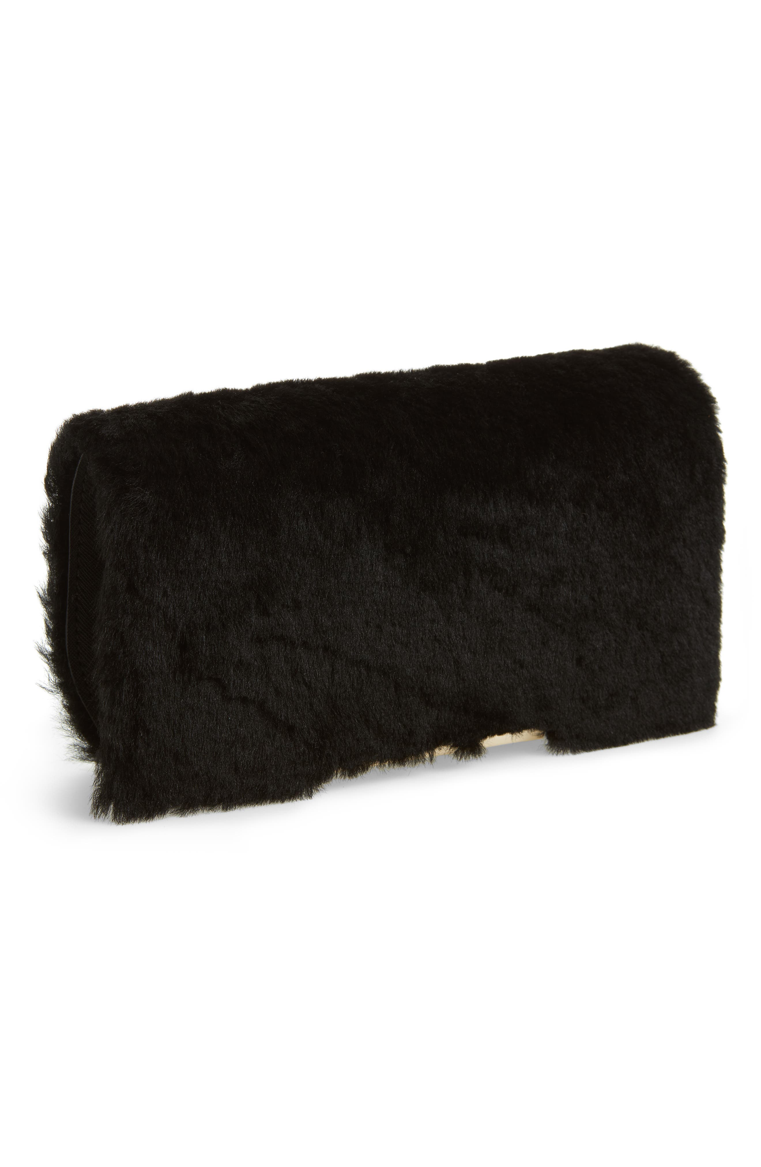 make it mine genuine shearling snap-on accent flap,                             Main thumbnail 1, color,                             Black