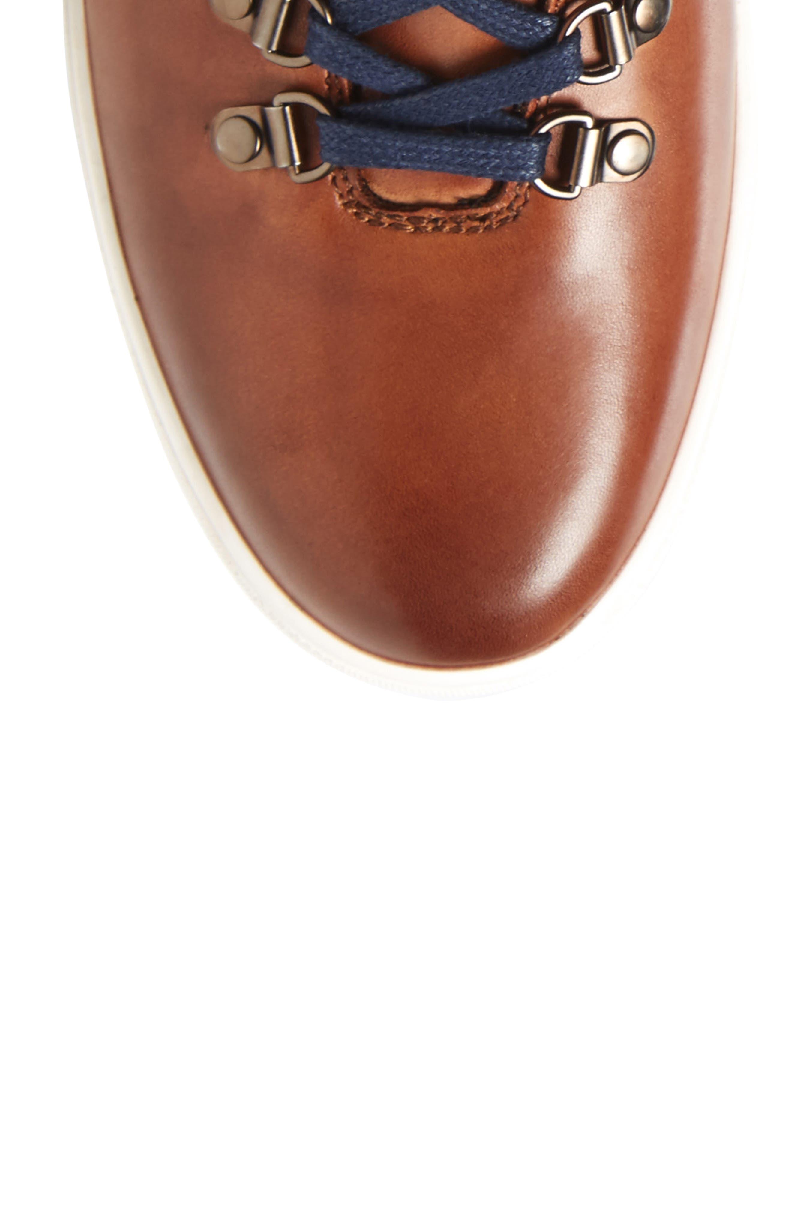 Slow Joe Mid Top Sneaker,                             Alternate thumbnail 5, color,                             Tan Leather
