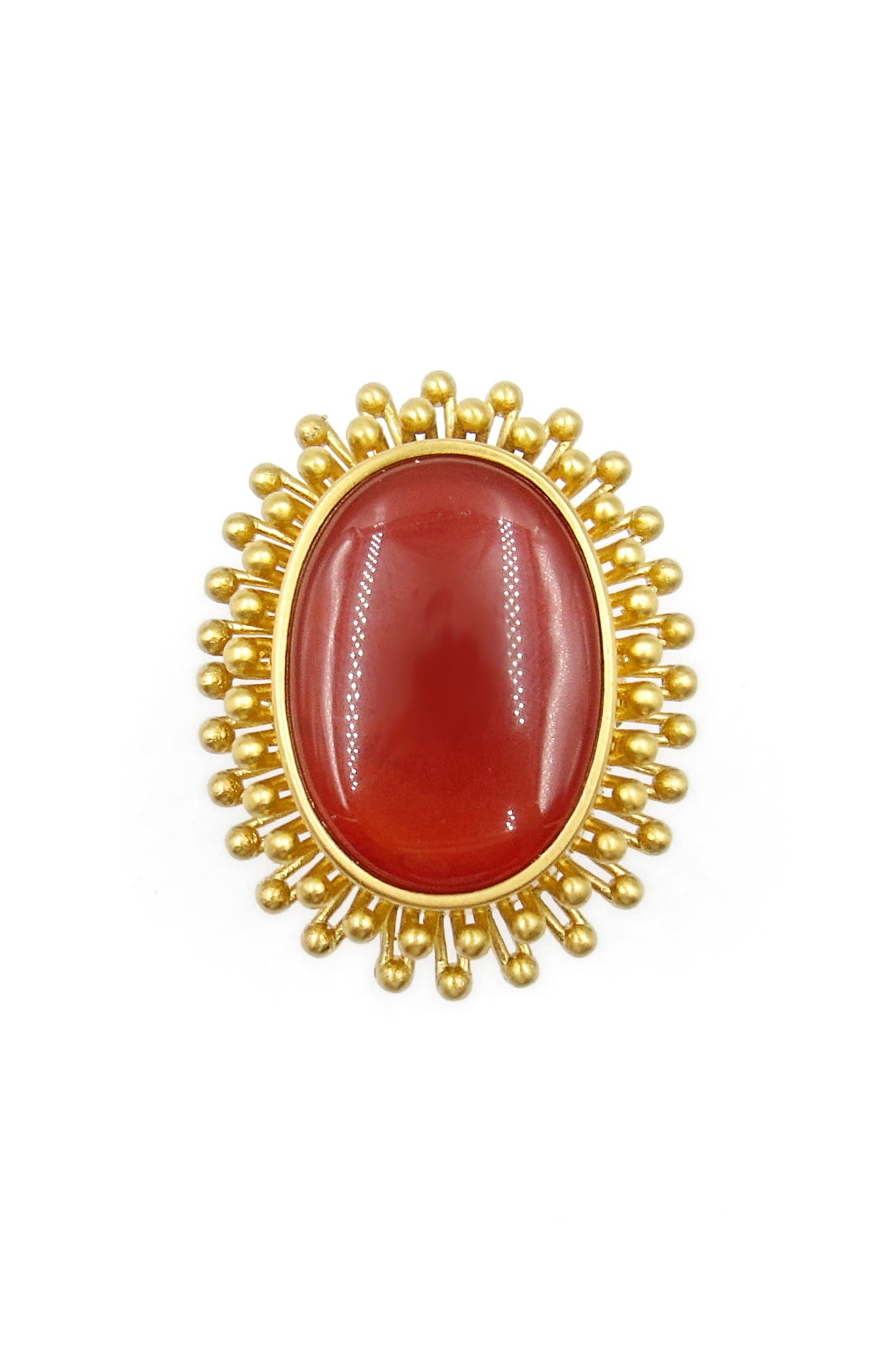 Agate Cocktail Ring,                         Main,                         color, Gold
