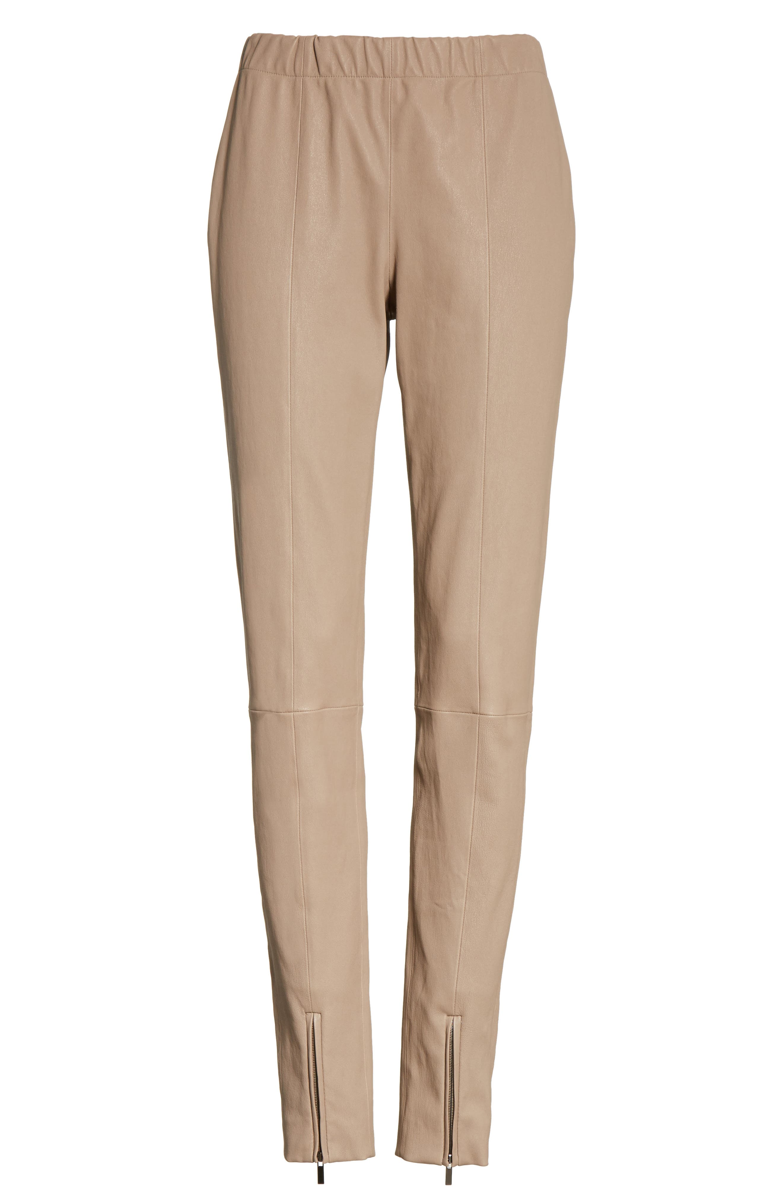 Alternate Image 6  - St. John Collection Stretch Leather Pants